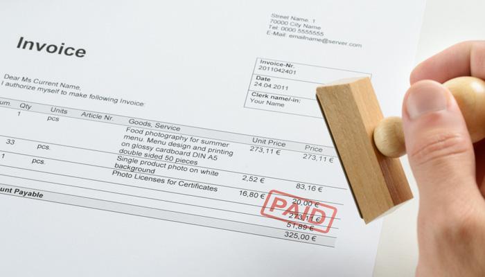 paid invoice