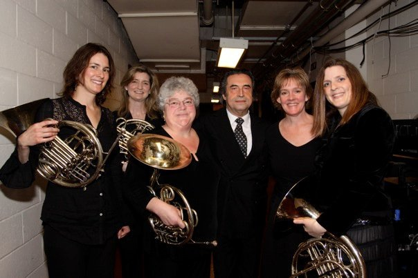 Julie and her Met girls with Maestro Ricardo Muti