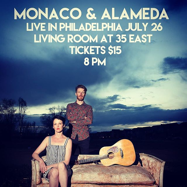 July 26 PHILADELPHIA! Live @ The Living Room at 35 East, Ardmore, PA. Intimate listening room...bring your own moonshine https://www.brownpapertickets.com/event/4252732