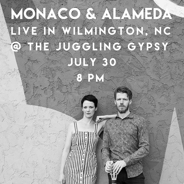 Live in #Wilmington, #NC @TheJugglingGypsy. July 30 - 8pm
