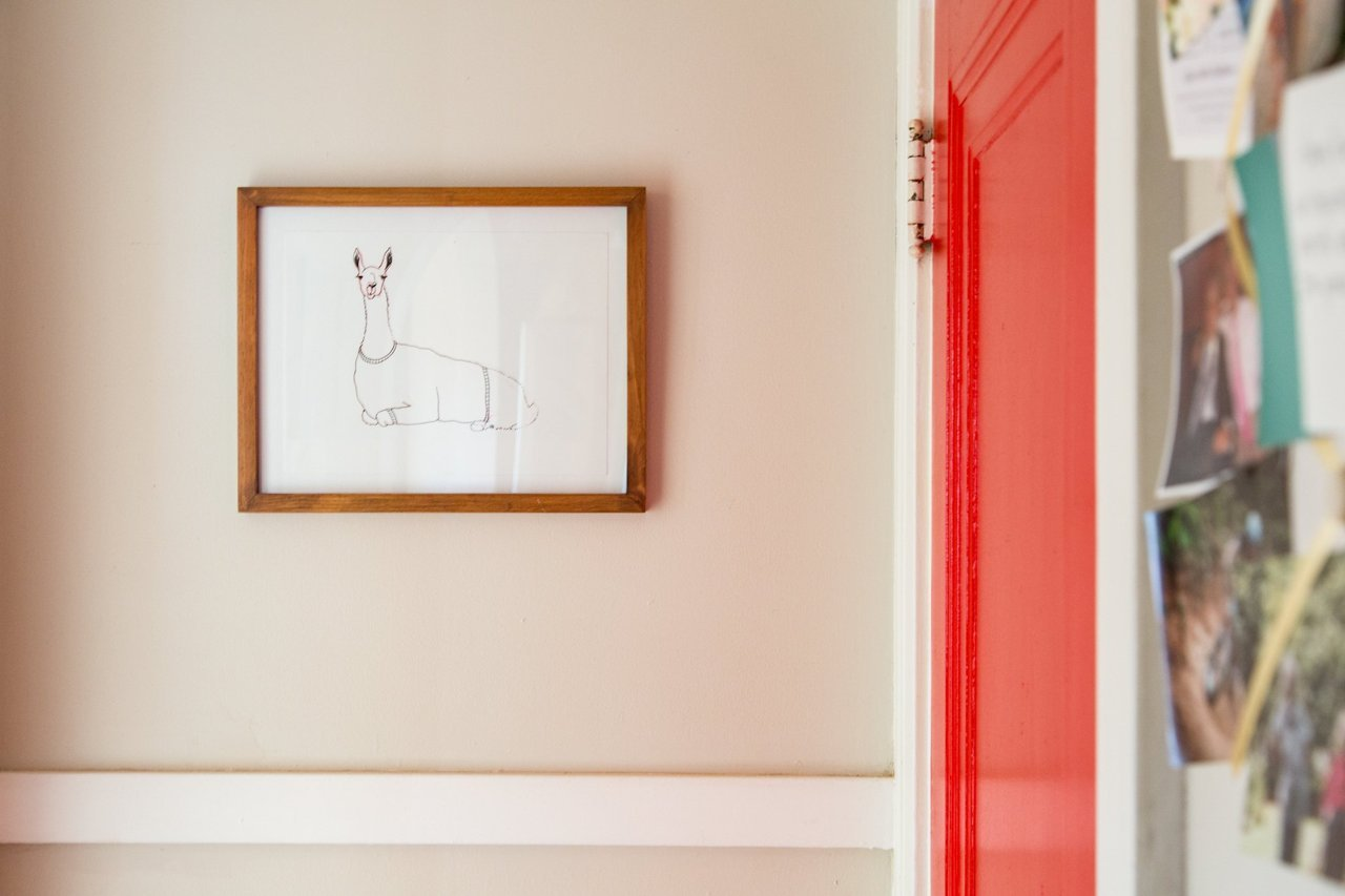 Add a hand sketched Llama too?! Even better with the red door!