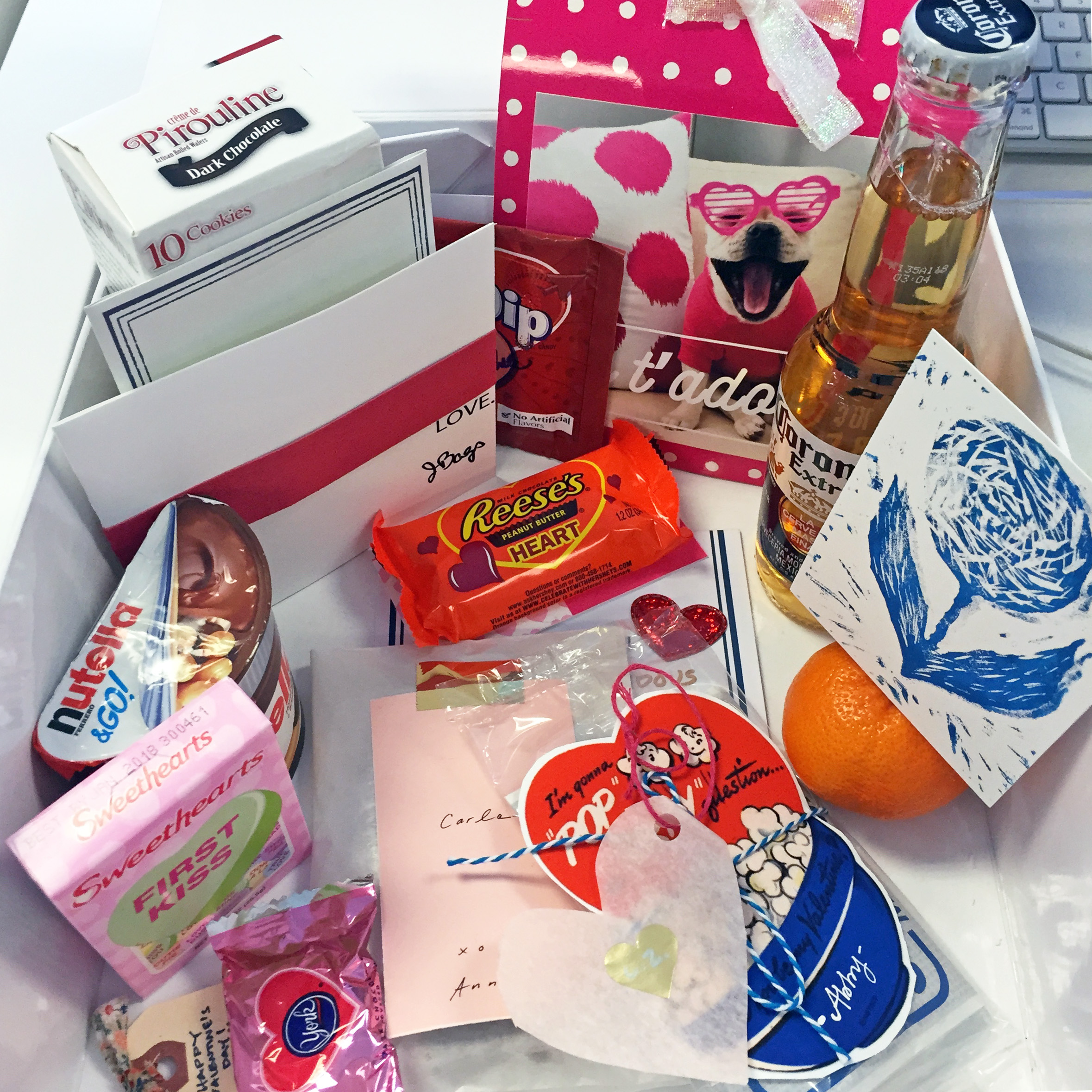 """A look at what I found inside my Valentine """"mailbox"""", so many fun little surprises!"""