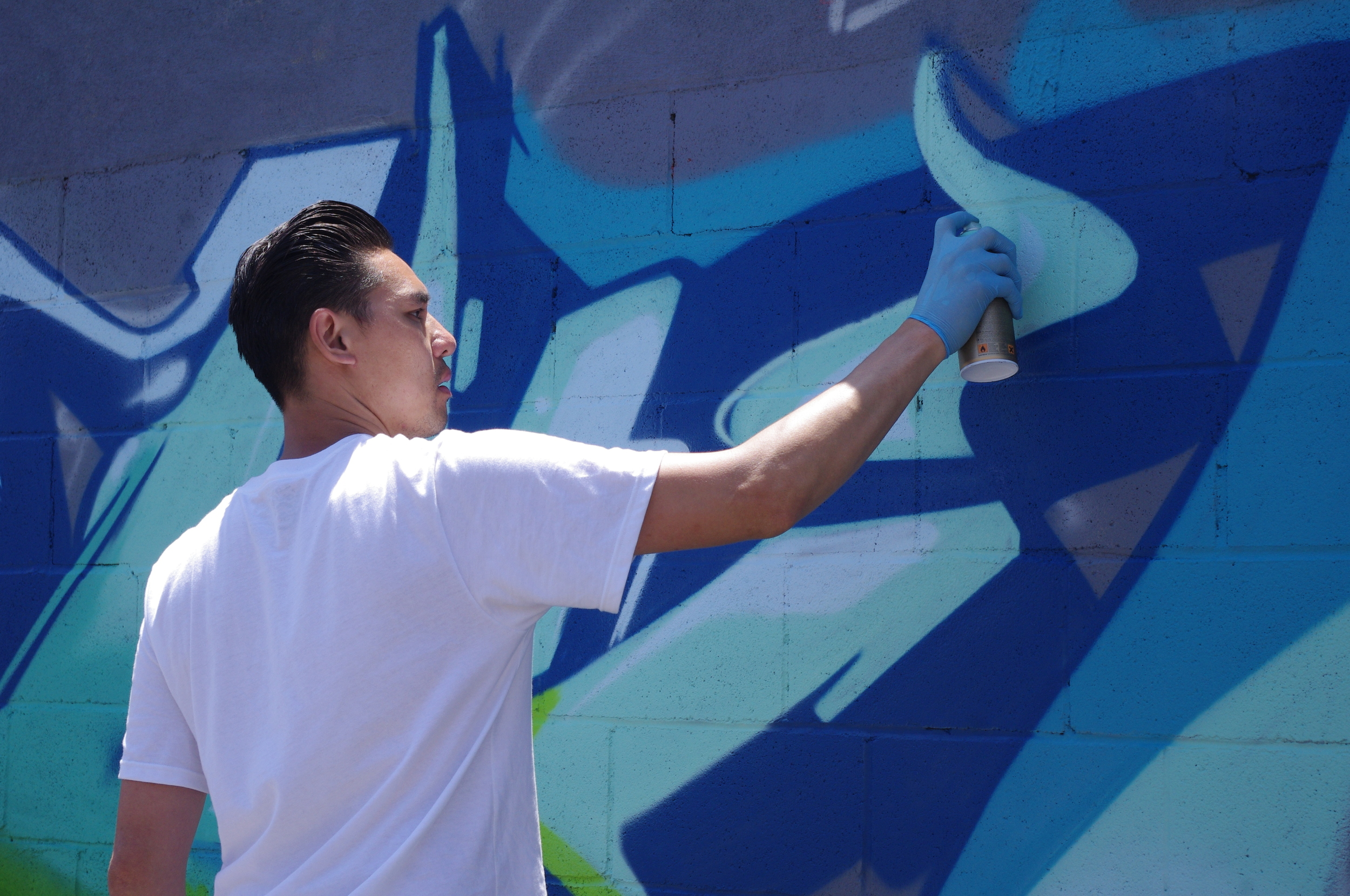 Tyke Witnes, whose works have been shown in galleries around the world, got his start in graffiti. | Photo by Linda Domingo