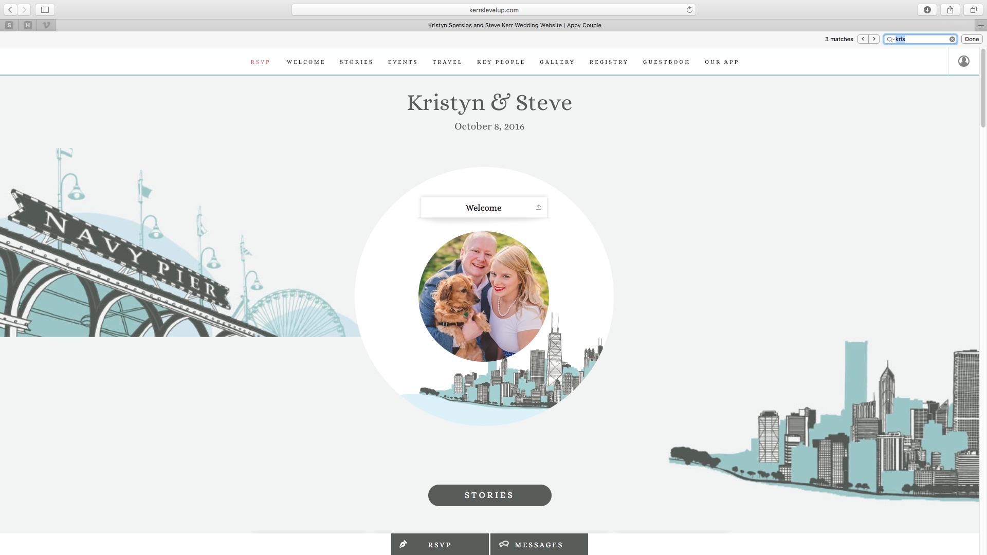 Click image to visit Kristyn + Steve's Wedding Website