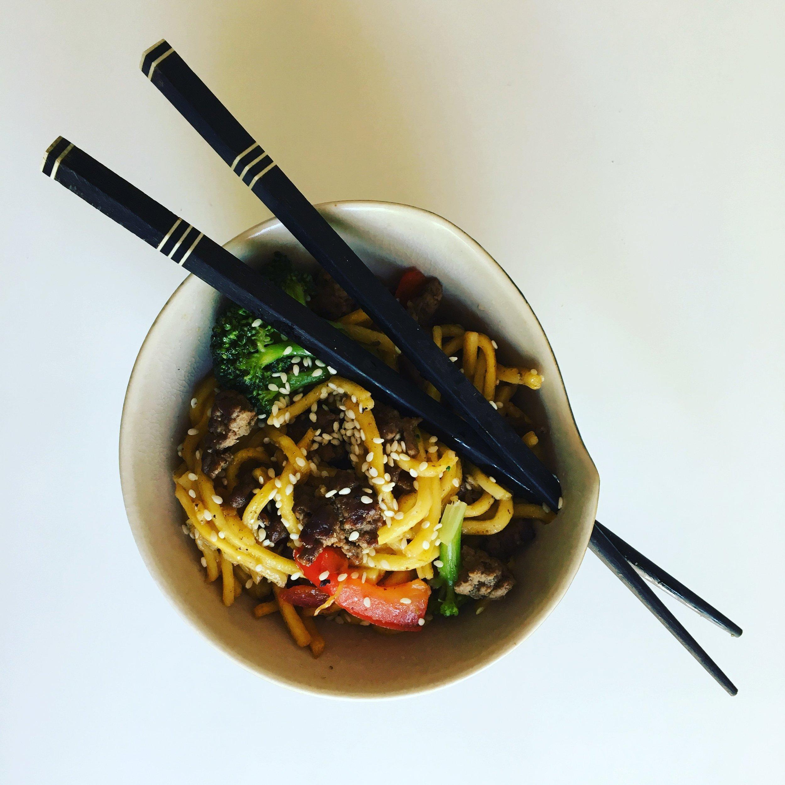 crispy beef noodles