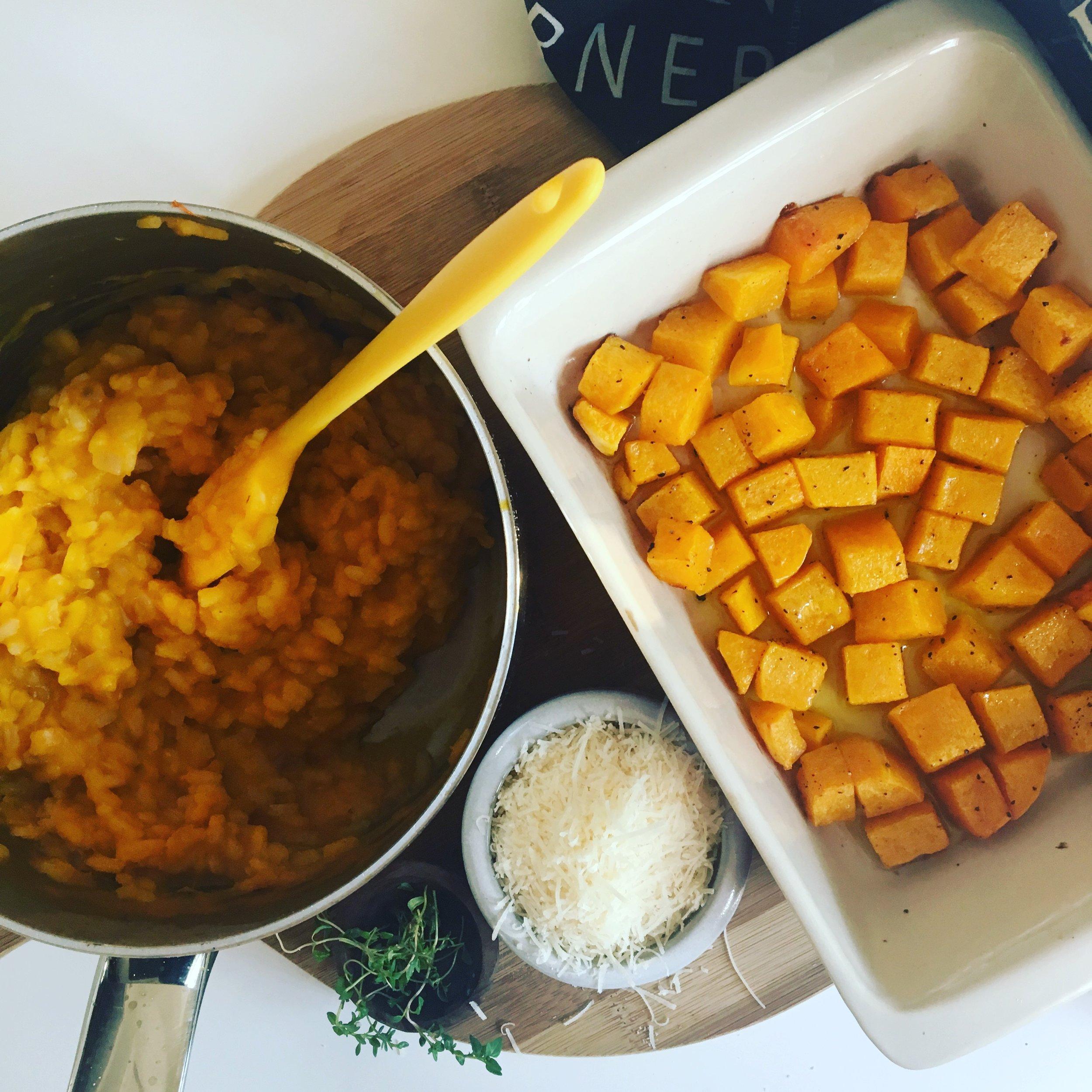basic squash risotto