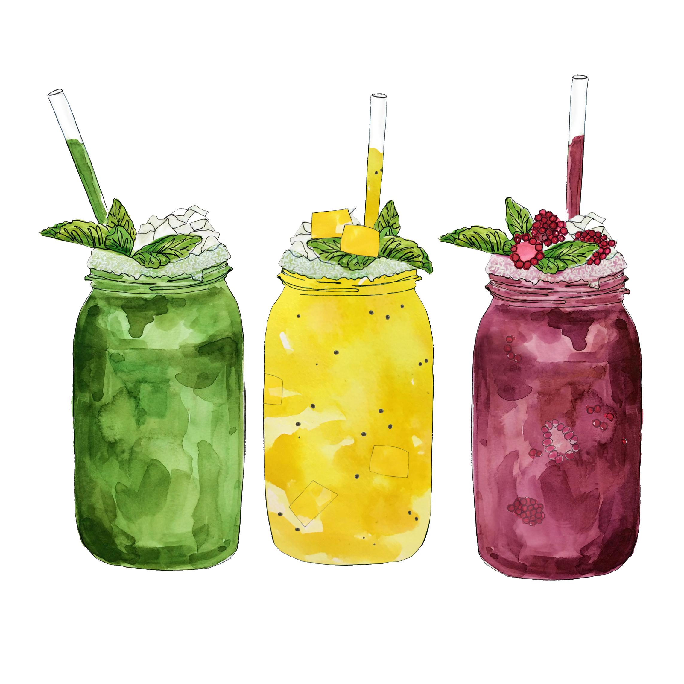 fruit + veggie smoothies