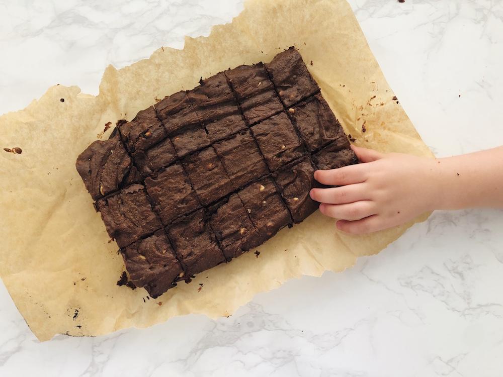Peanut + Tahini Brownies