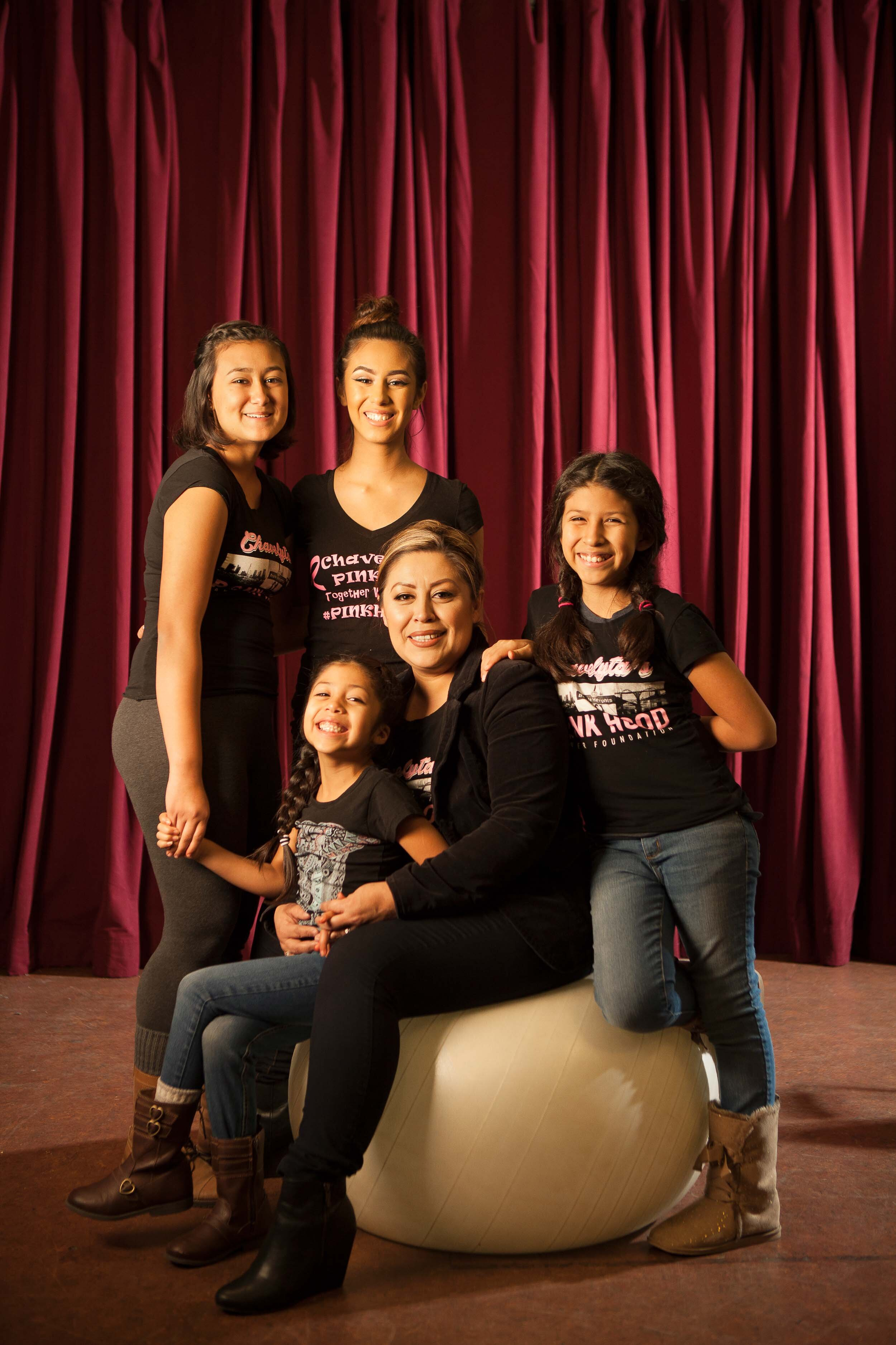 Isabel Guillen and daughters for California Community Foundation