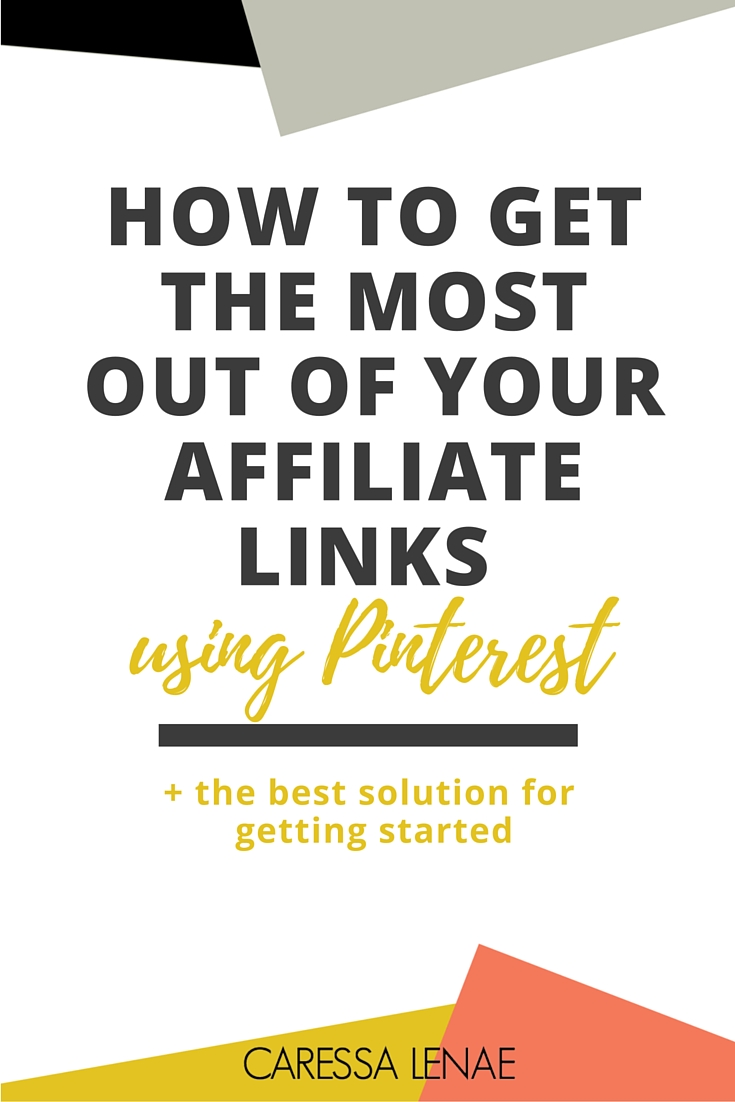 Did you hear? Pinterest now allows their users to use affiliate links and the doors are opening for us business owners and bloggers. Find out ways you can maximize your reach and income using affiliate links and the BEST resource for getting started. via @CaressaLenae