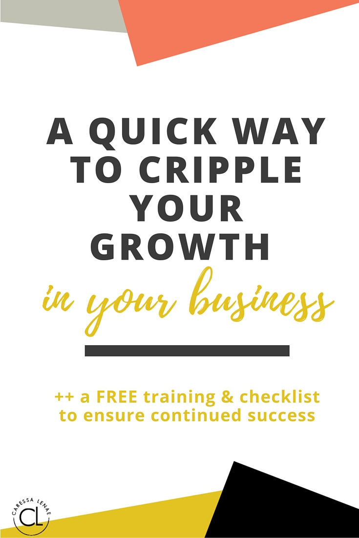 Here's the #1 way I see many new entrepreneurs cripple their business success and growth. Plus, I have a free training and checklist to be sure you continue to grow and build your business. Via @CaressaLenae