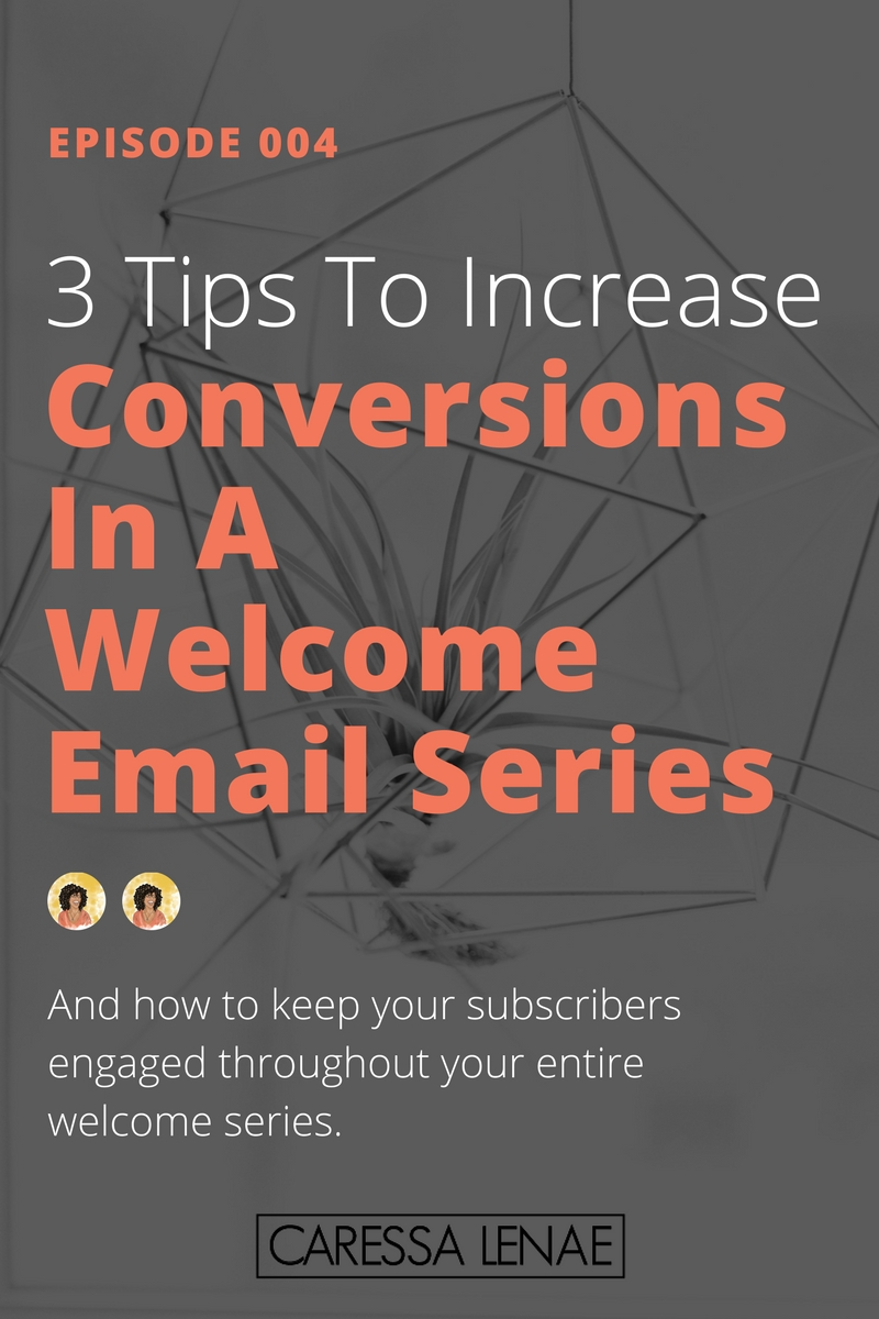 In episode 4 of The Business Casual Podcast, I share 3 tips for increasing your conversions in your welcome email series. And how you can continue to keep your subscribers engaged. via @CaressaLenae