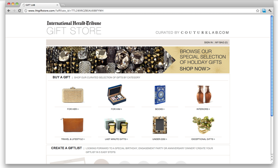 CoutureLab International Herald Tribune Giftstore