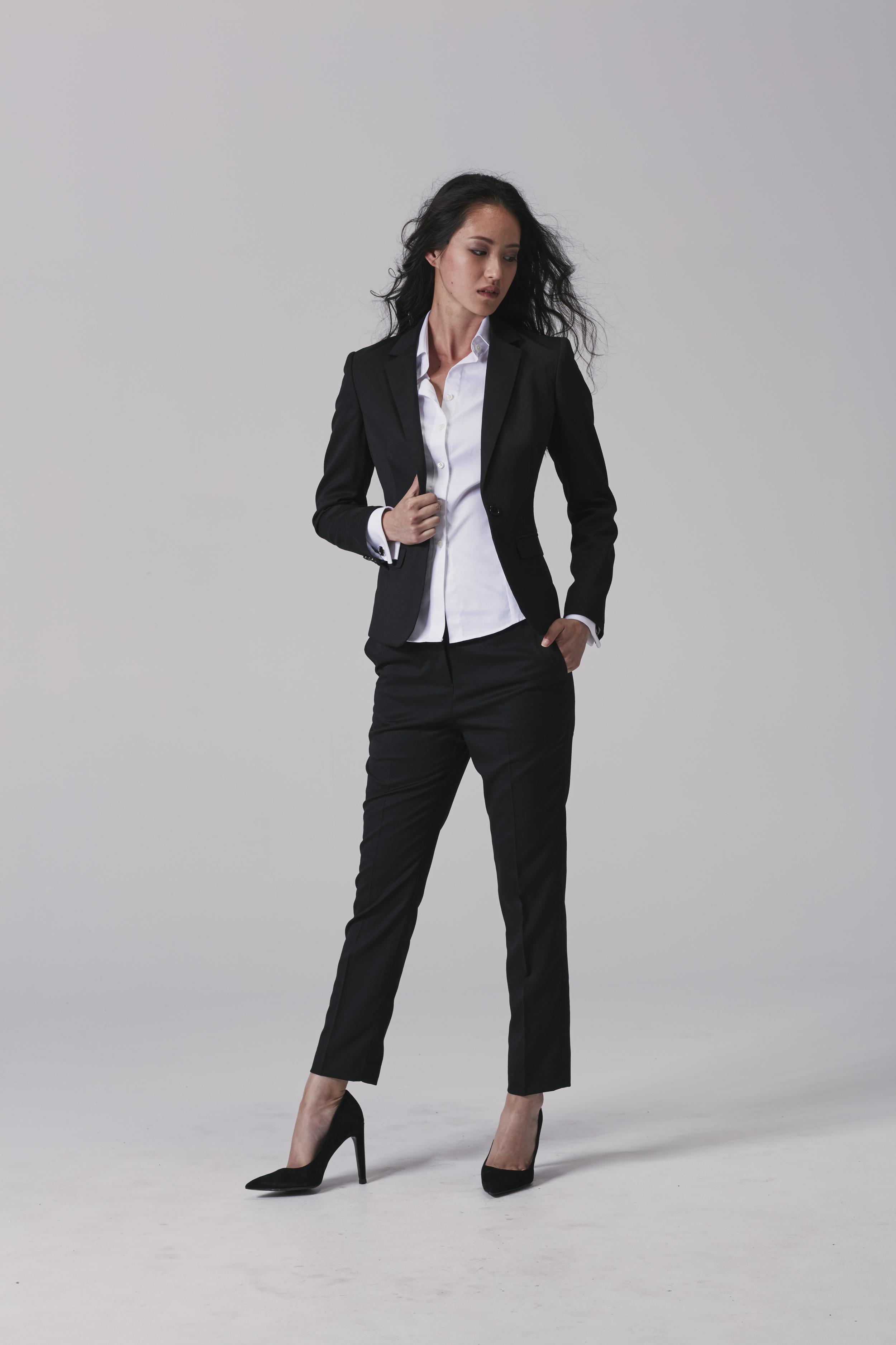 Womens business shirt Womens business pants Womens business jacket.jpg