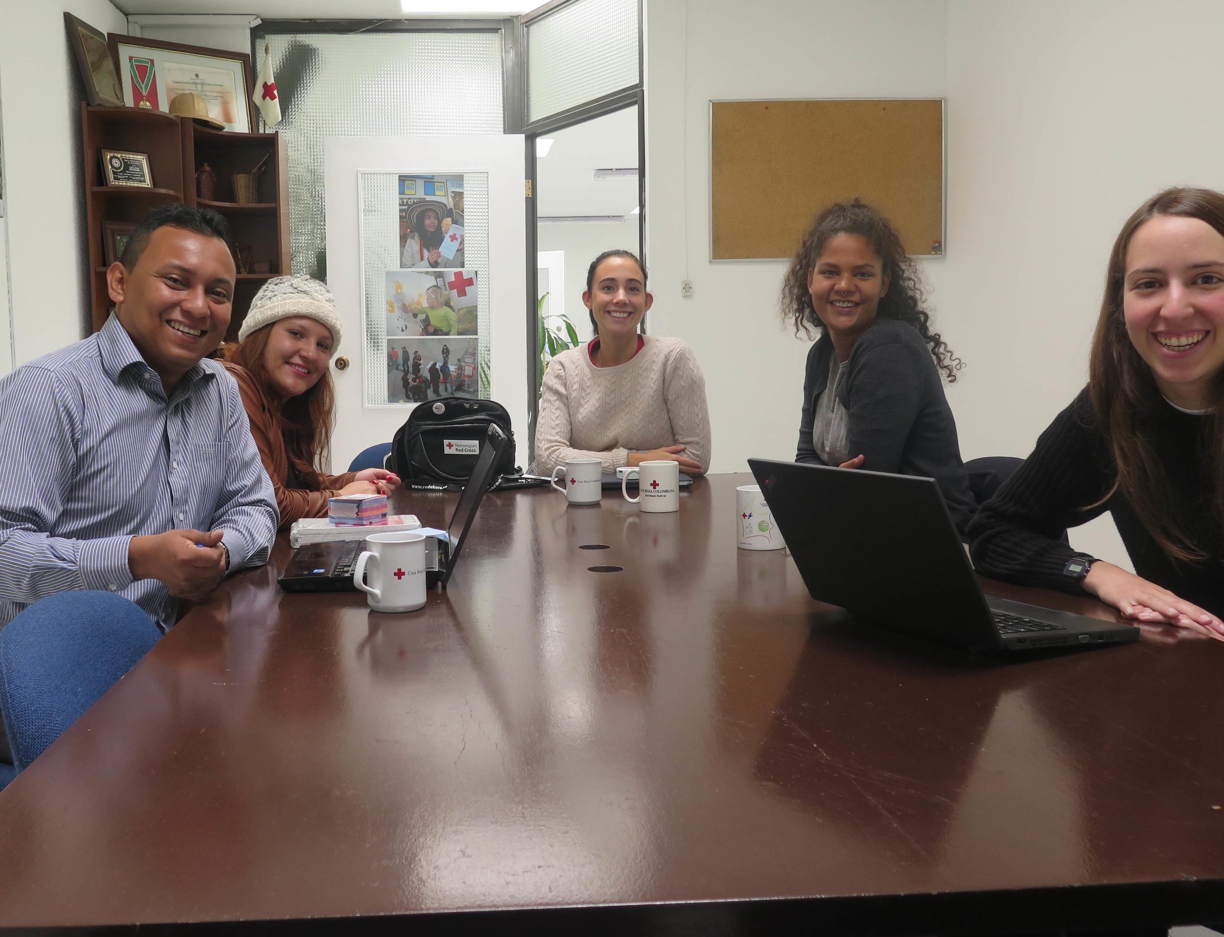 Our first meeting with the National Coordinator Gerardo Navarro in Bógota.
