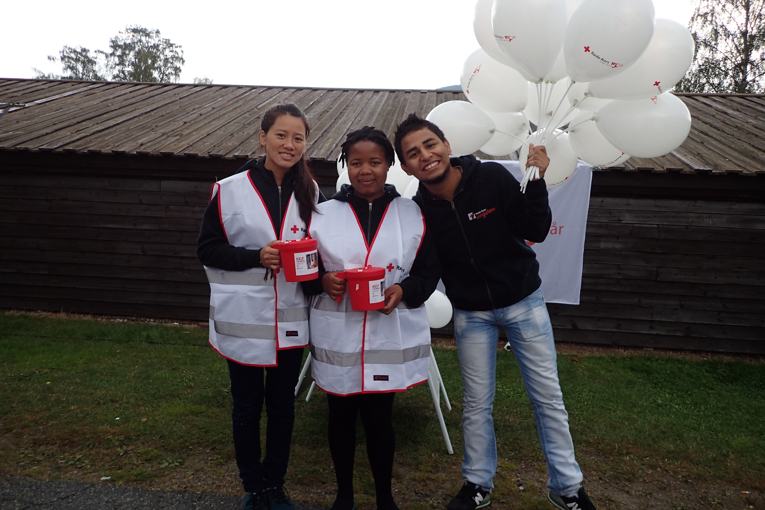 Youth delegates from Nepal, Lesotho and Colombia.