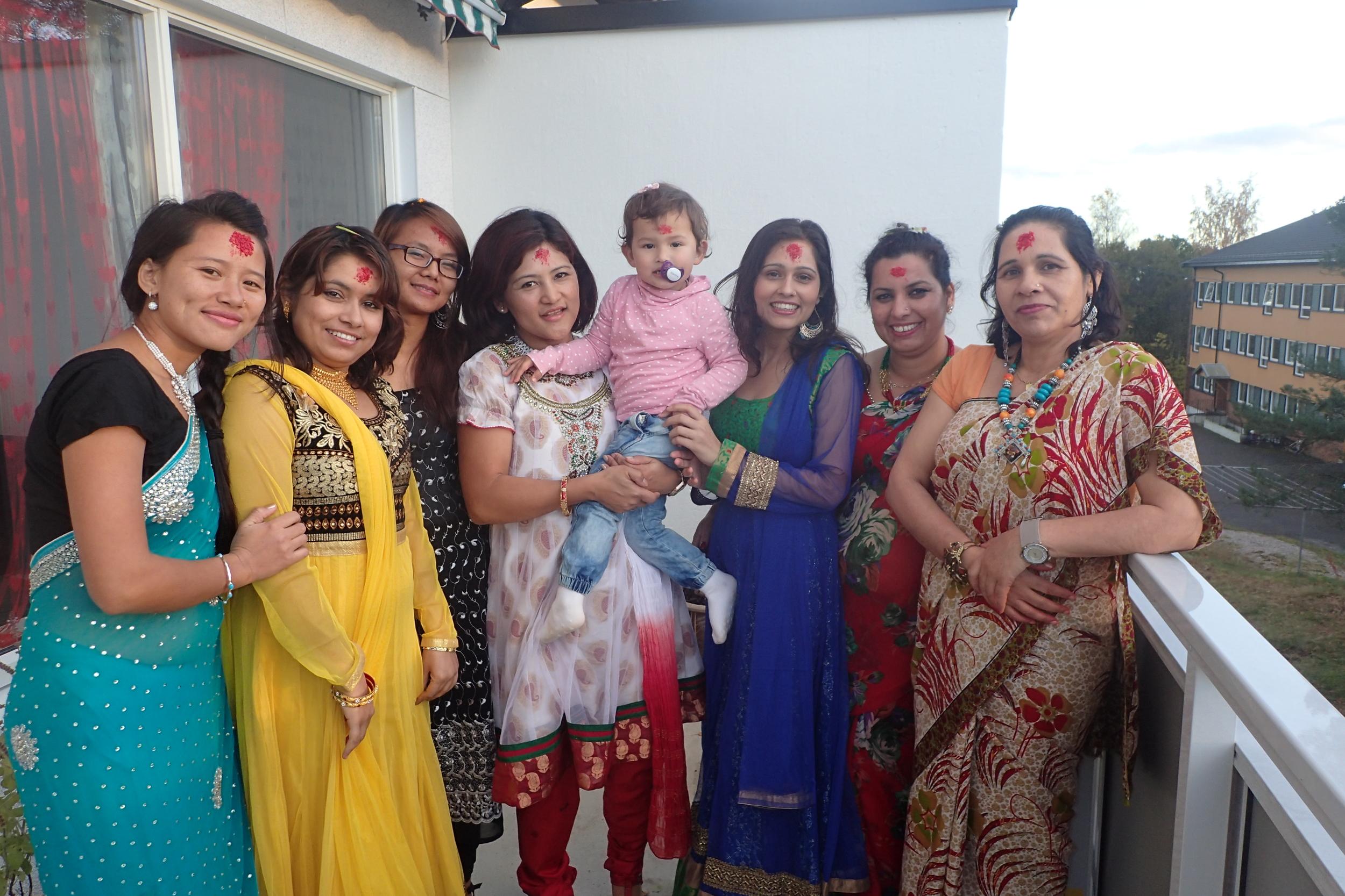 Nepali happy faces in Dashain festival
