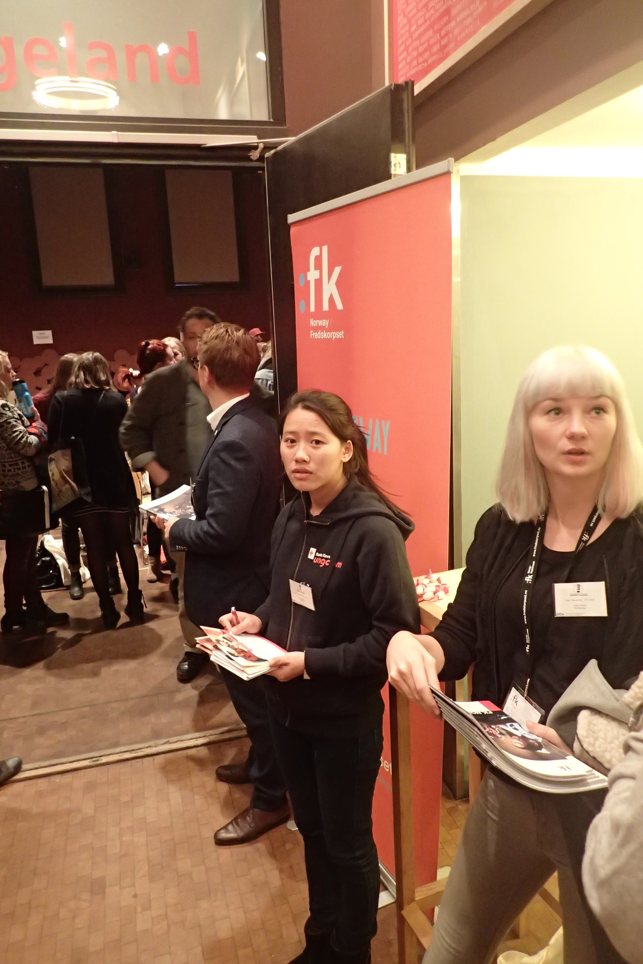 FK Norway and YDEP telling people about our joint effort..