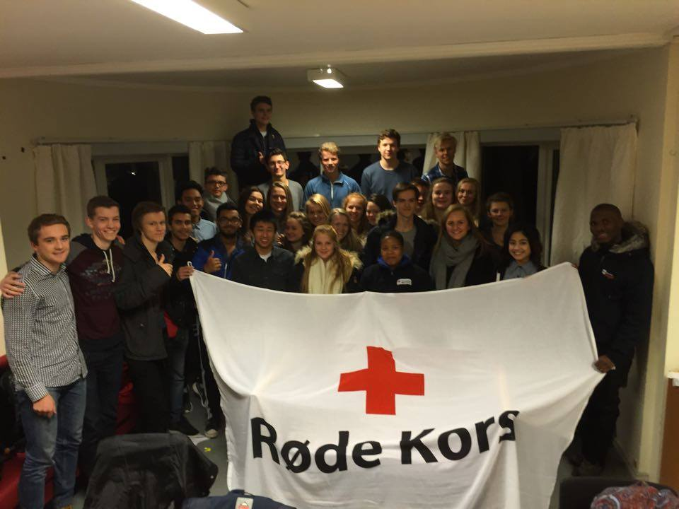 These are Lesotho youth delegates together with Stavanger Red Cross Youth
