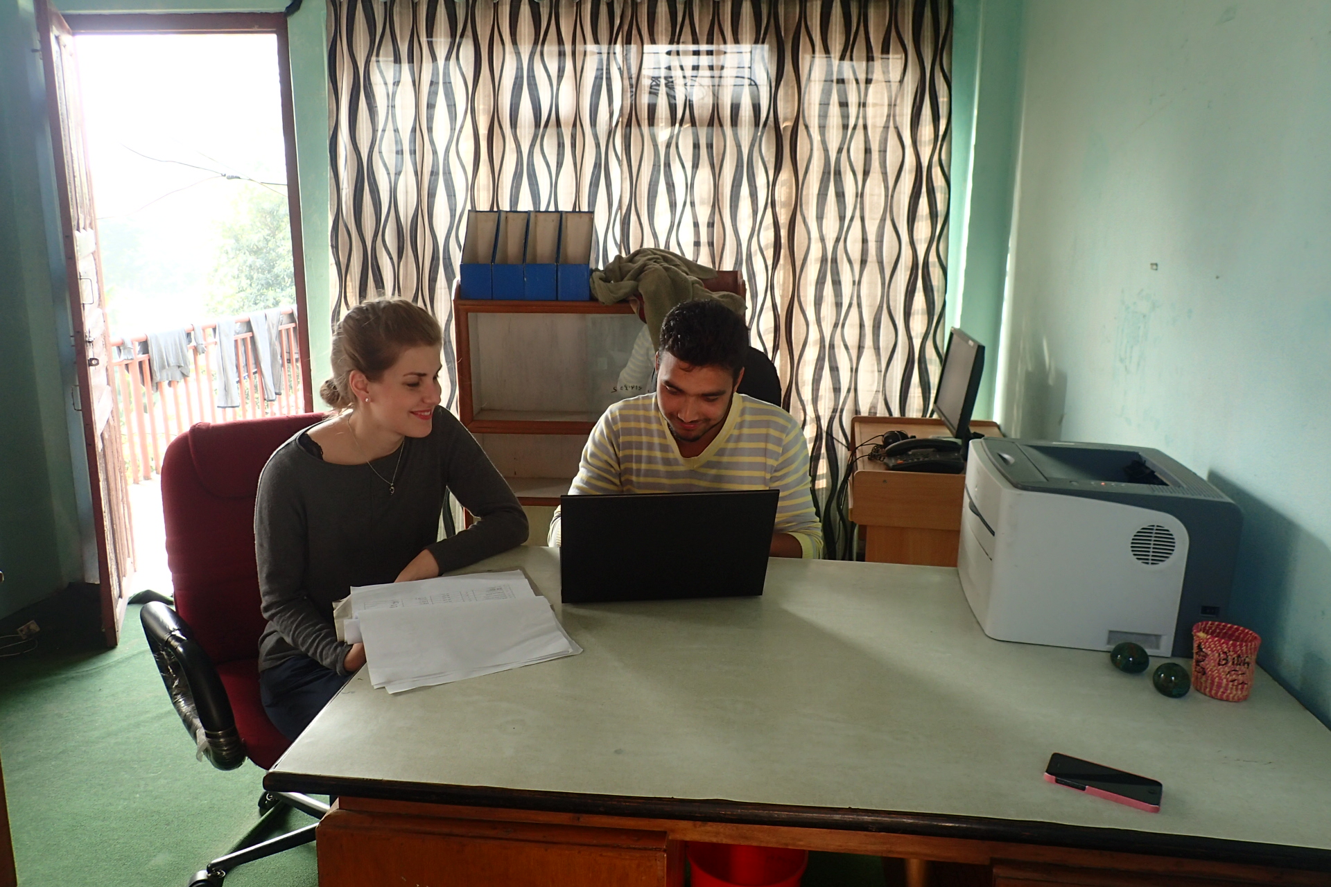 Lise and Suraj Ji, one of our colleagues in Tanahun District