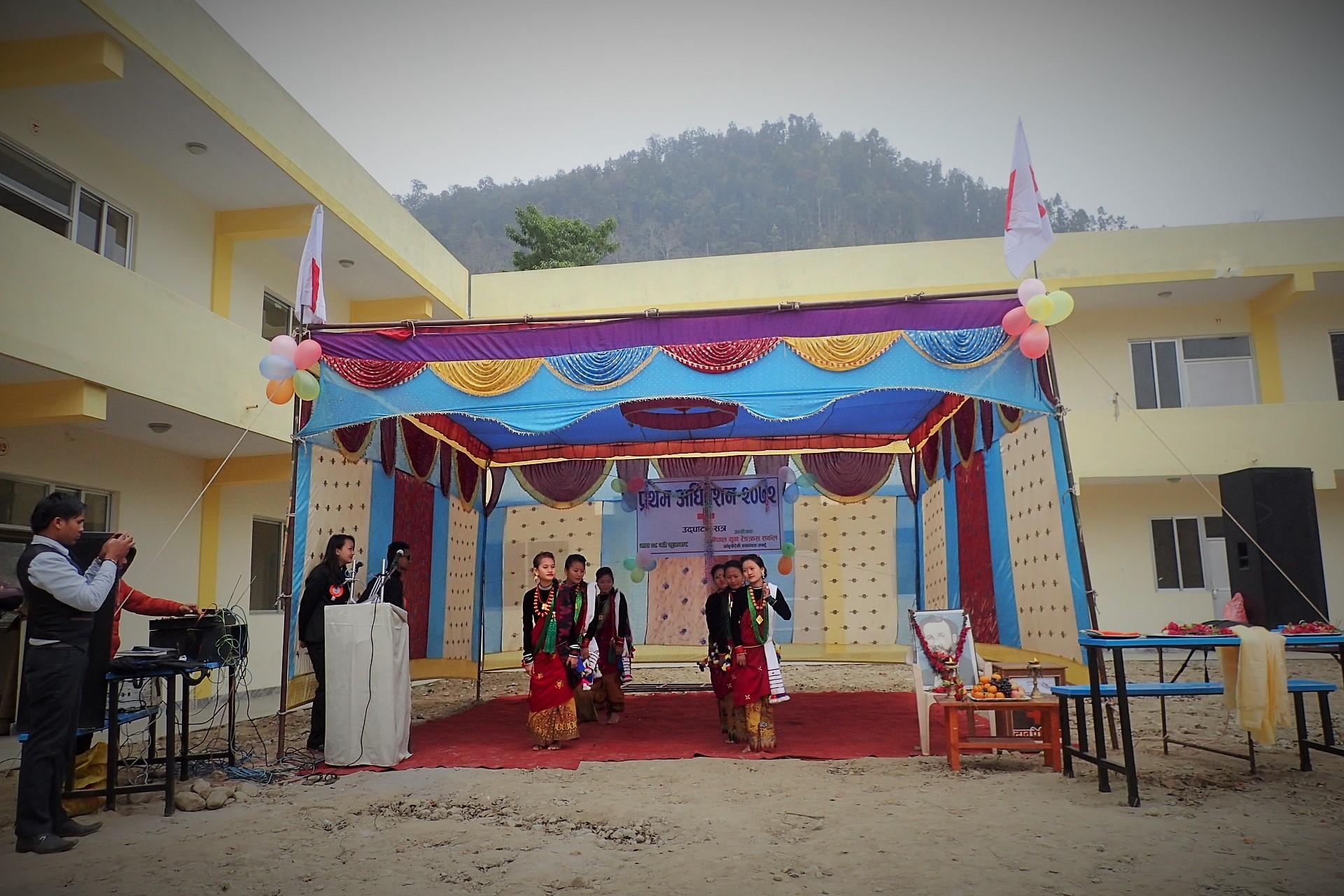 Cultural dance at Aanbookhaireni Campus