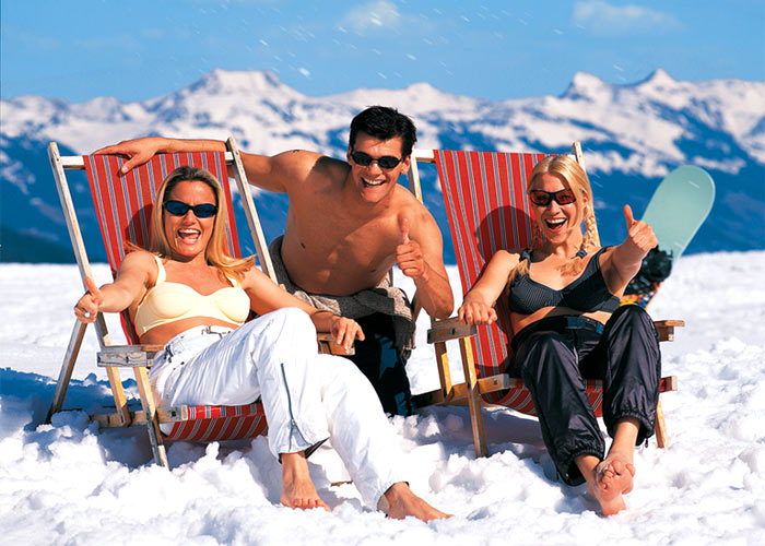 Easter - the only time of year where you can ski WHILE getting a tan