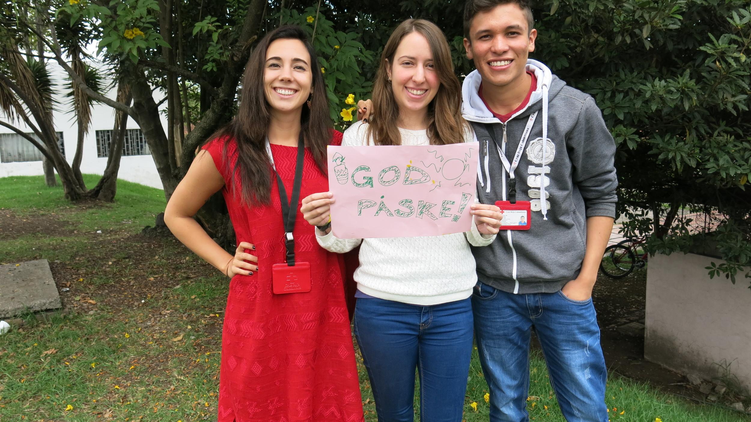 "Wishing everyone a ""god påske"" from Colombian Red Cross, Cundinamarca & Bogotá"