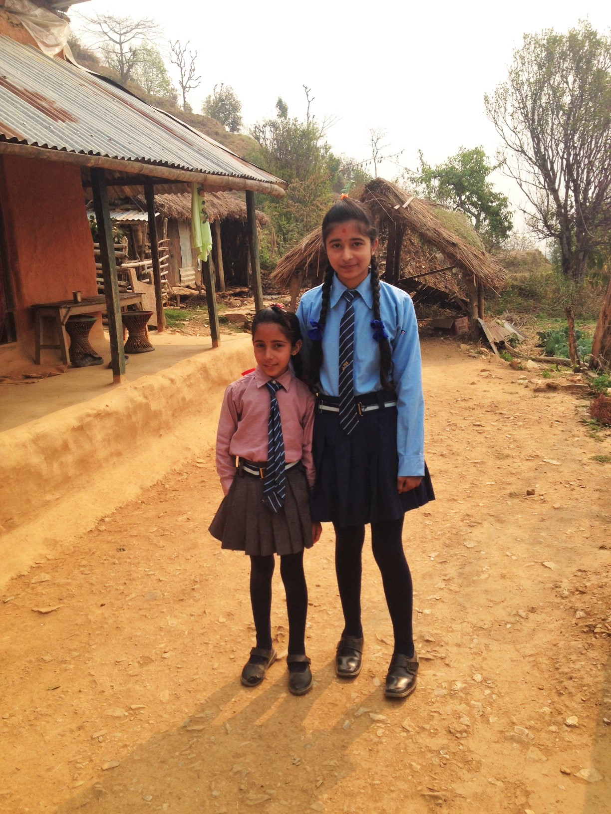 The beautiful girls who lived with us - ready for school