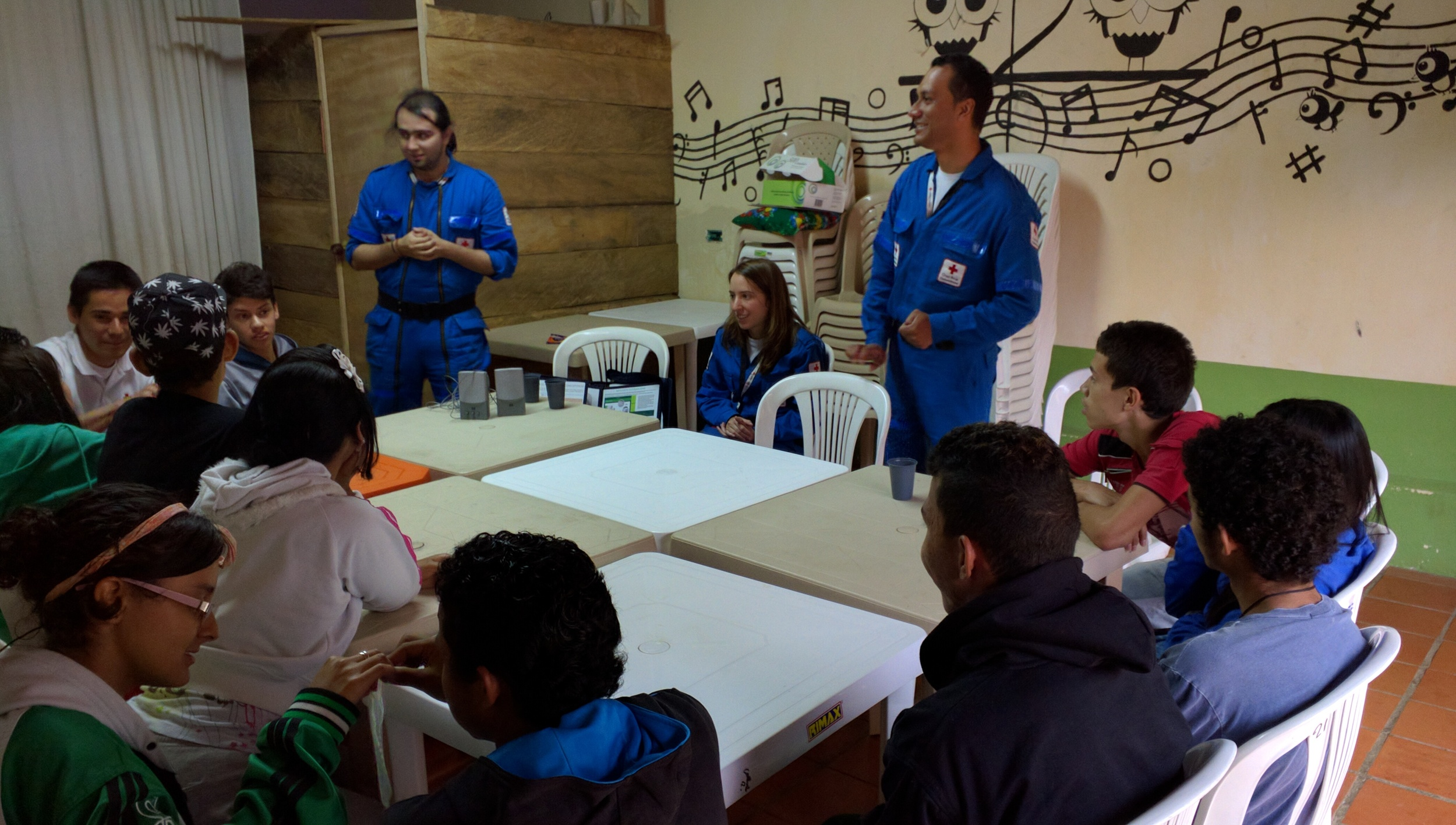 Realizando un taller de Salud Sexual y Reproductiva con jóvenes // Visiting a workshop on Sexual and Reproductive health with youth