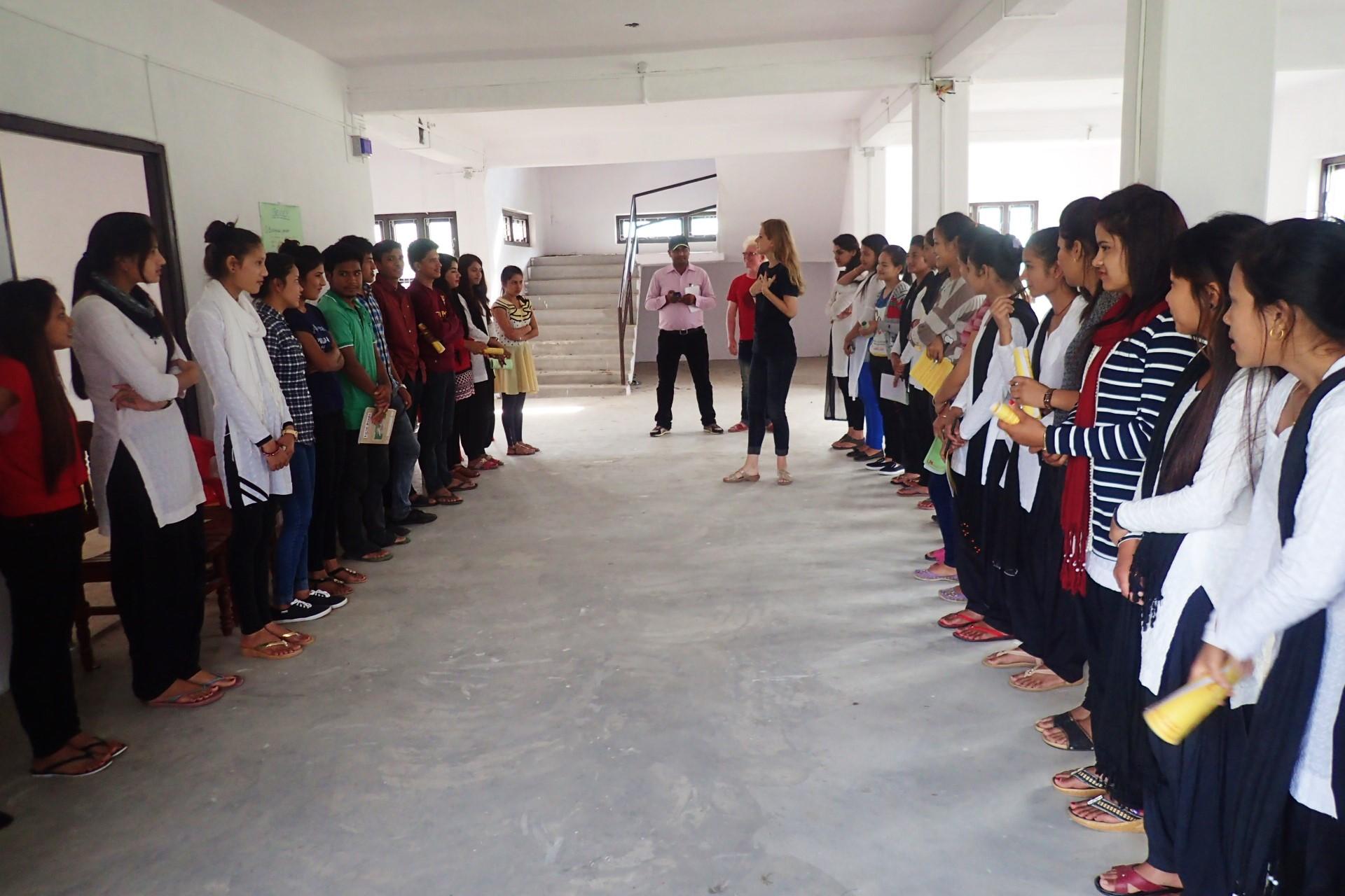Boundary lines at Bhanu Bhakta Multiple Campus