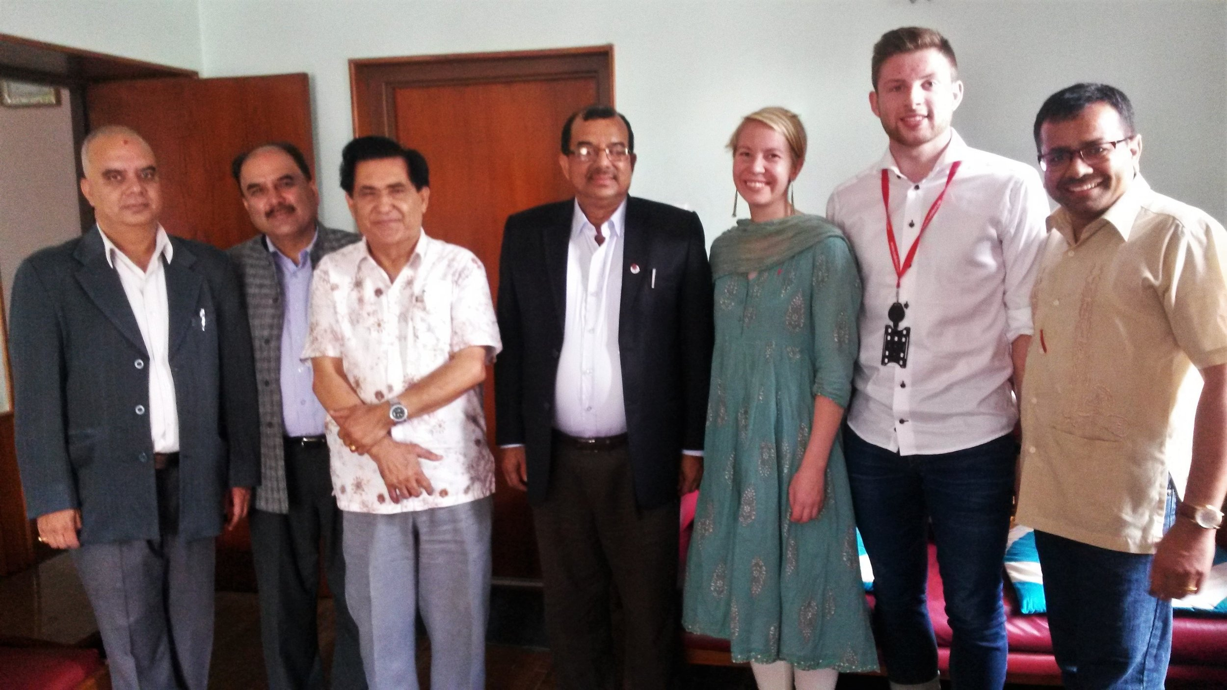 Honorary meeting with Chairman an Genaral Secretary of Nepal Red Cross