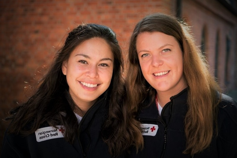 Maria and Kristina, Red Cross Youth Delegates