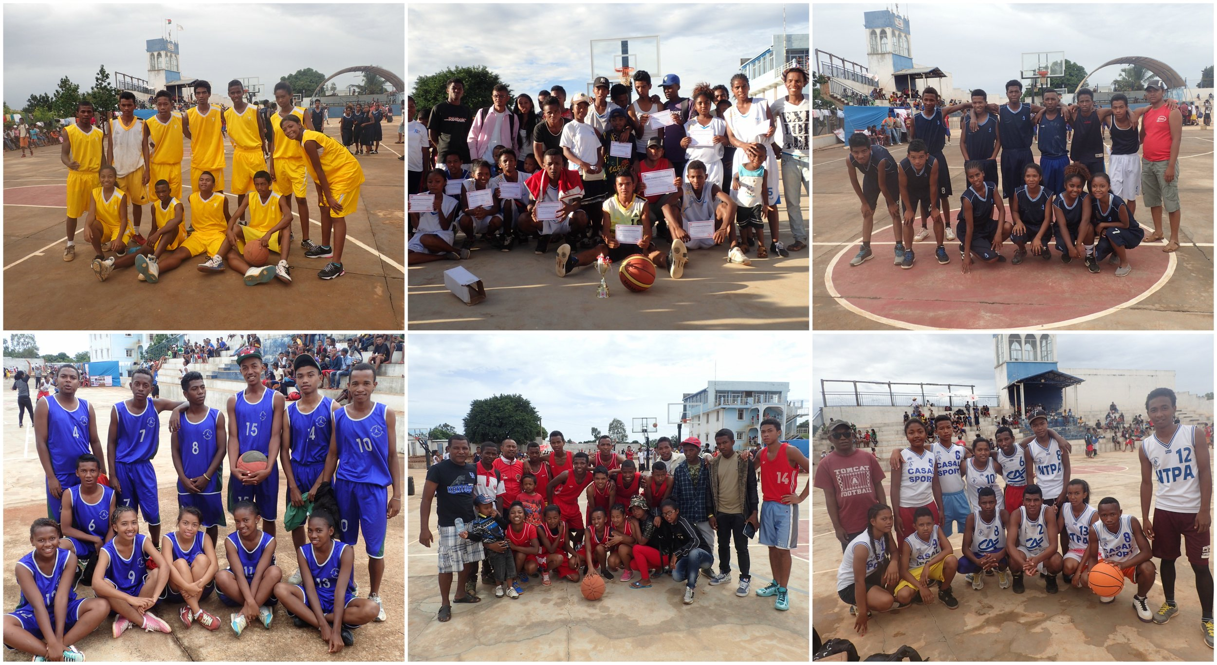 We invited two private schools, two public schools and a Red Cross team from Ankandinondry to participate in the tournament. Each team consisted of girls and boys and the players were between 15 and 25 years old.