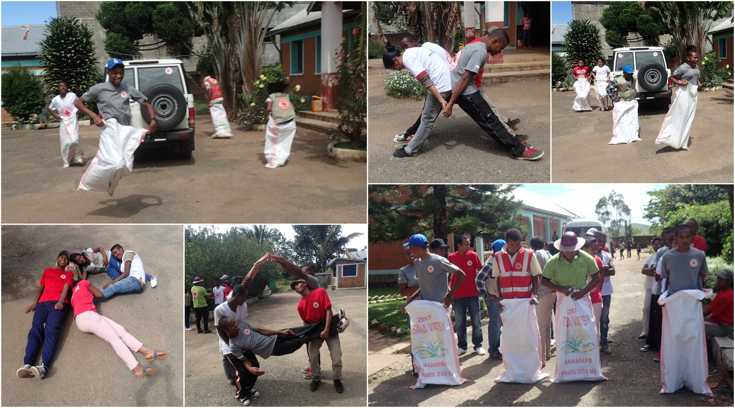 Creative and sportive participants during the teambuilding session.