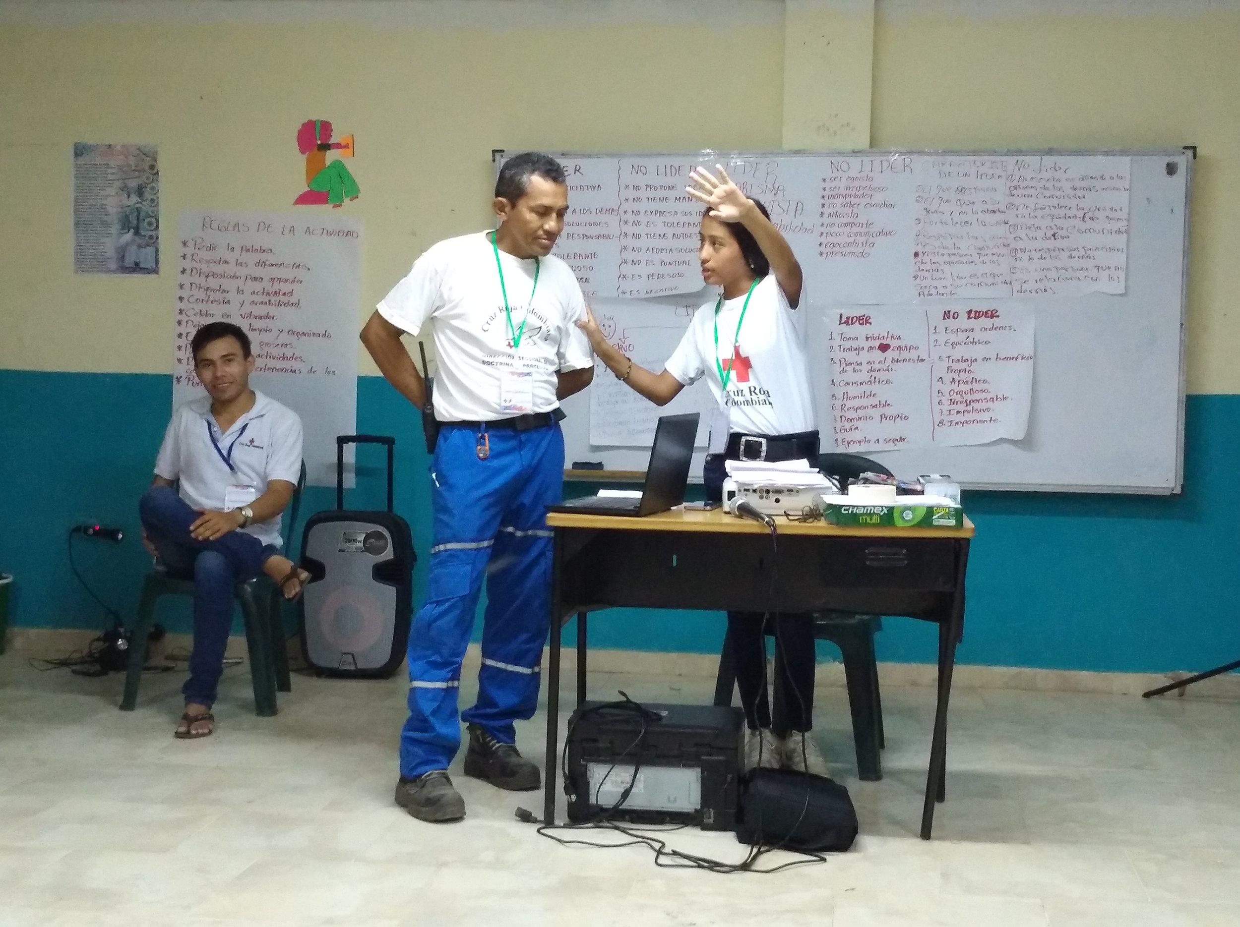Juego de rol, de diferente típos de liderazgo. /// Role play, with different types of leadership.    Foto: Sofie S.Bele