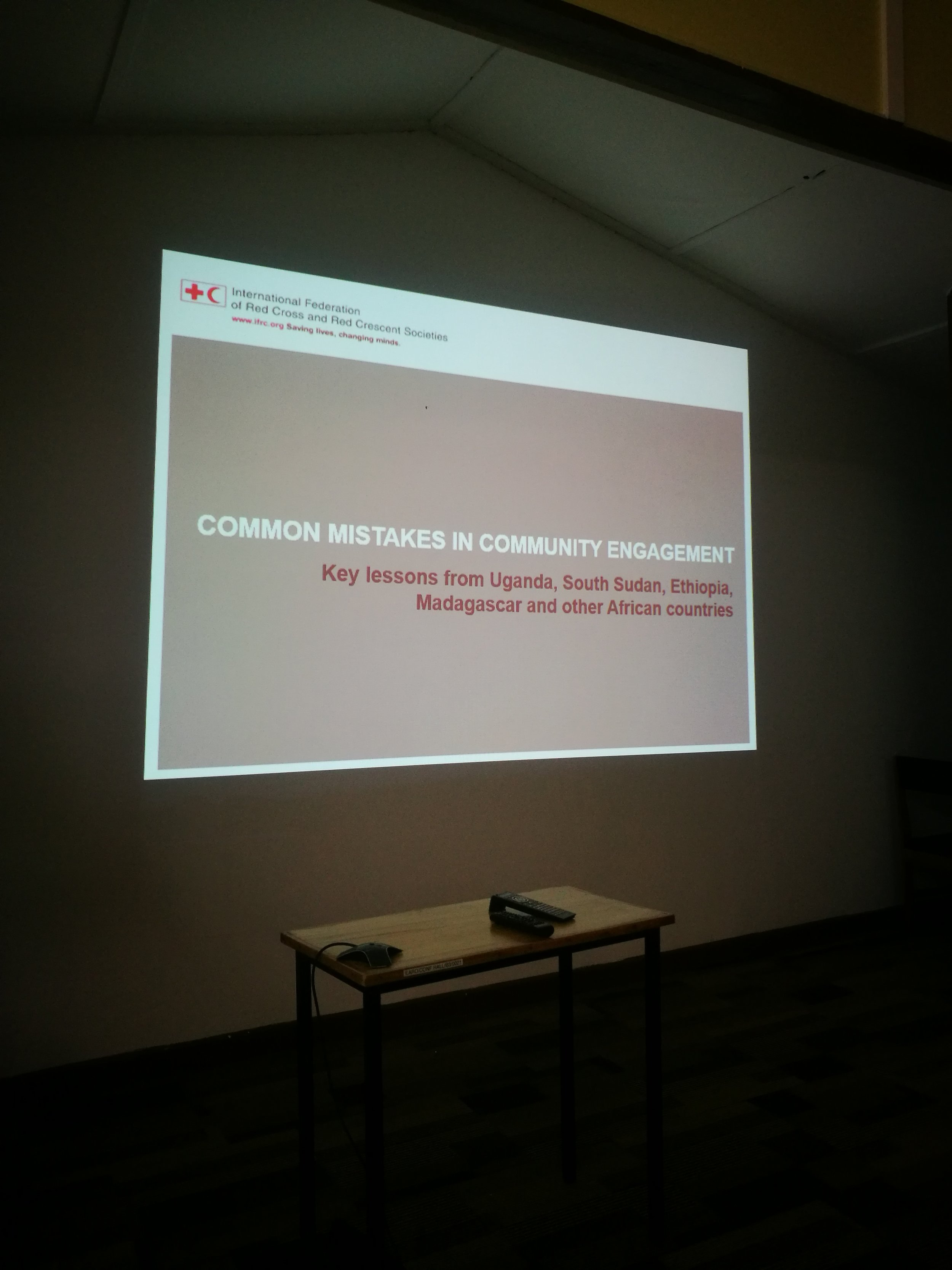 A lecture we attended. The topic never grows old.