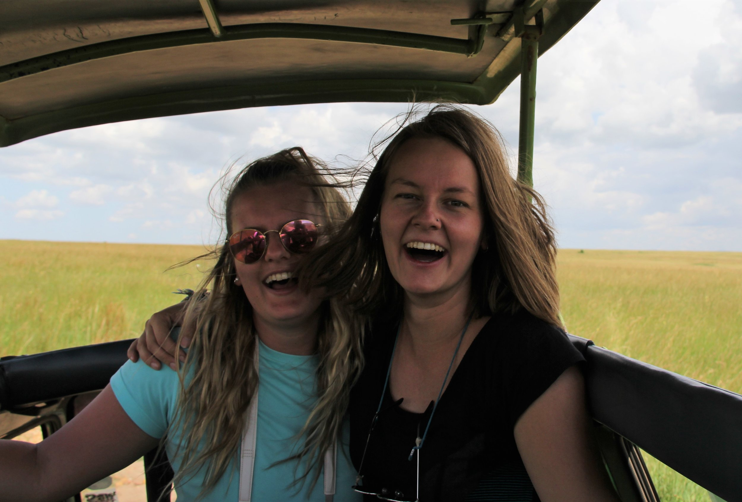 Aurora and her sister (Kristina) were blown away by the safari