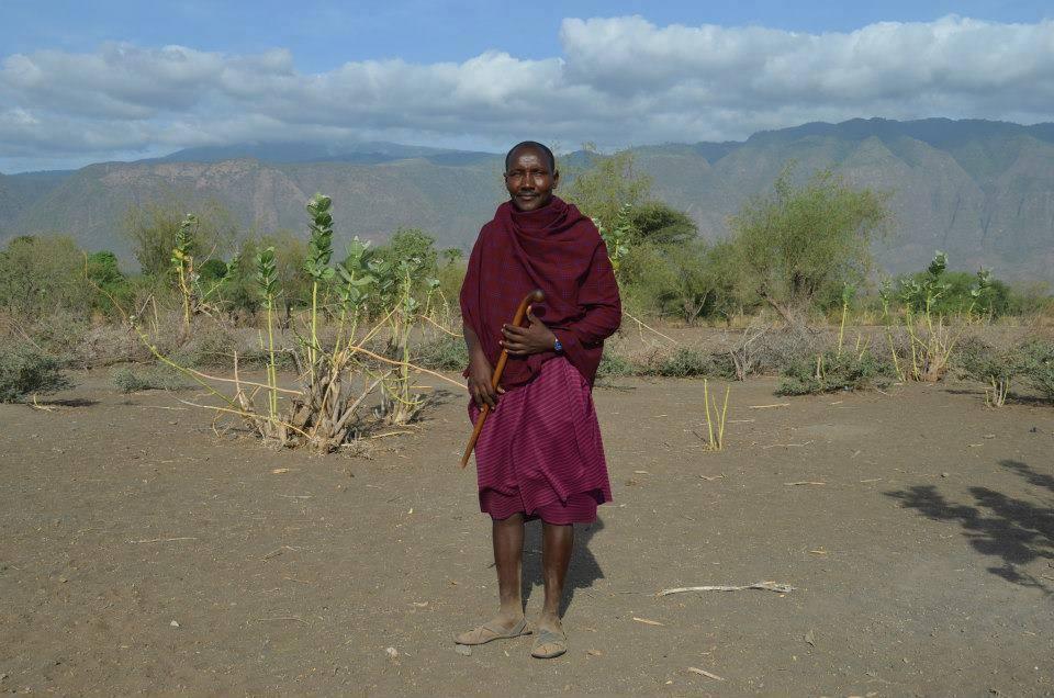 Mr. Daudi in his traditional clothing.