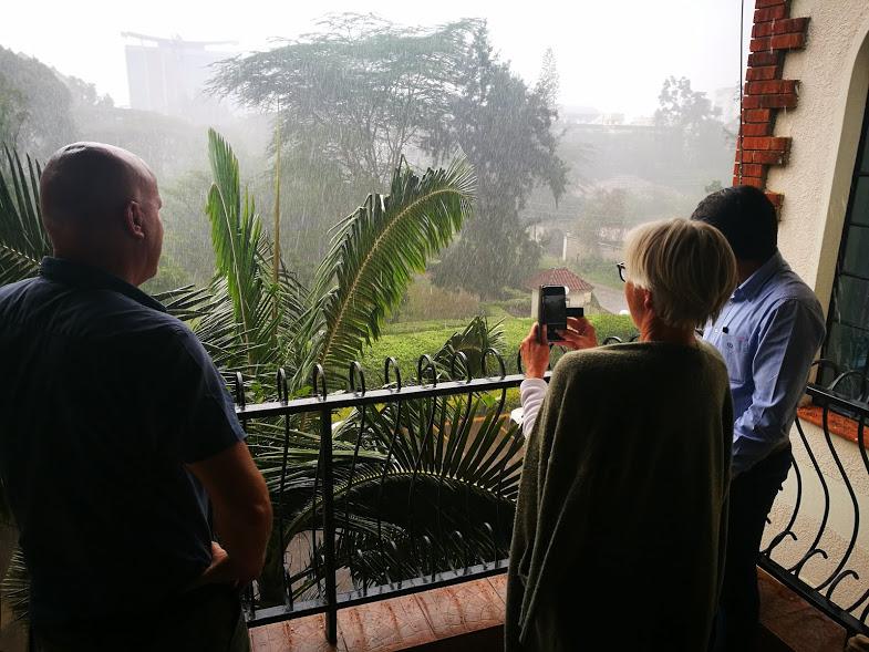 It's haling in Nairobi.