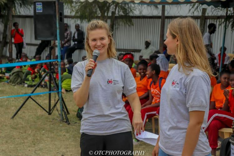 We made a speech about Red Cross as a global movement. Photo: OTC Photography