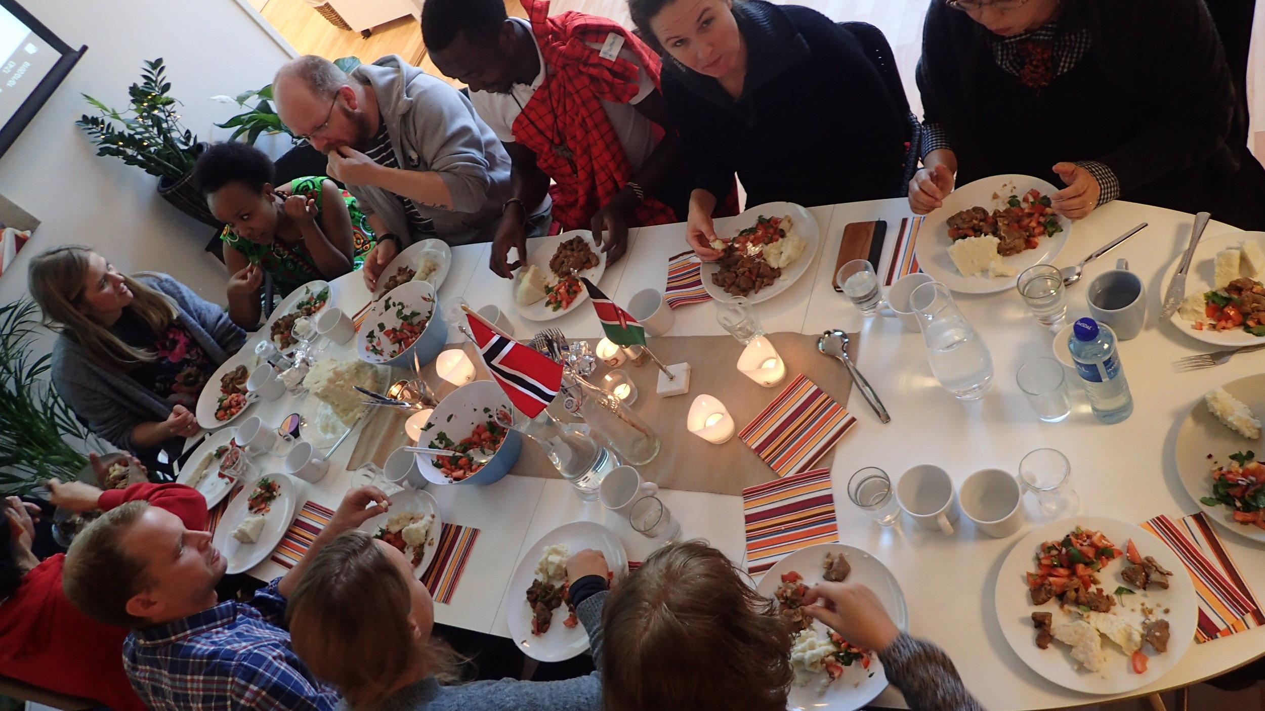Kenyan lunch at Red Cross Akershus District office