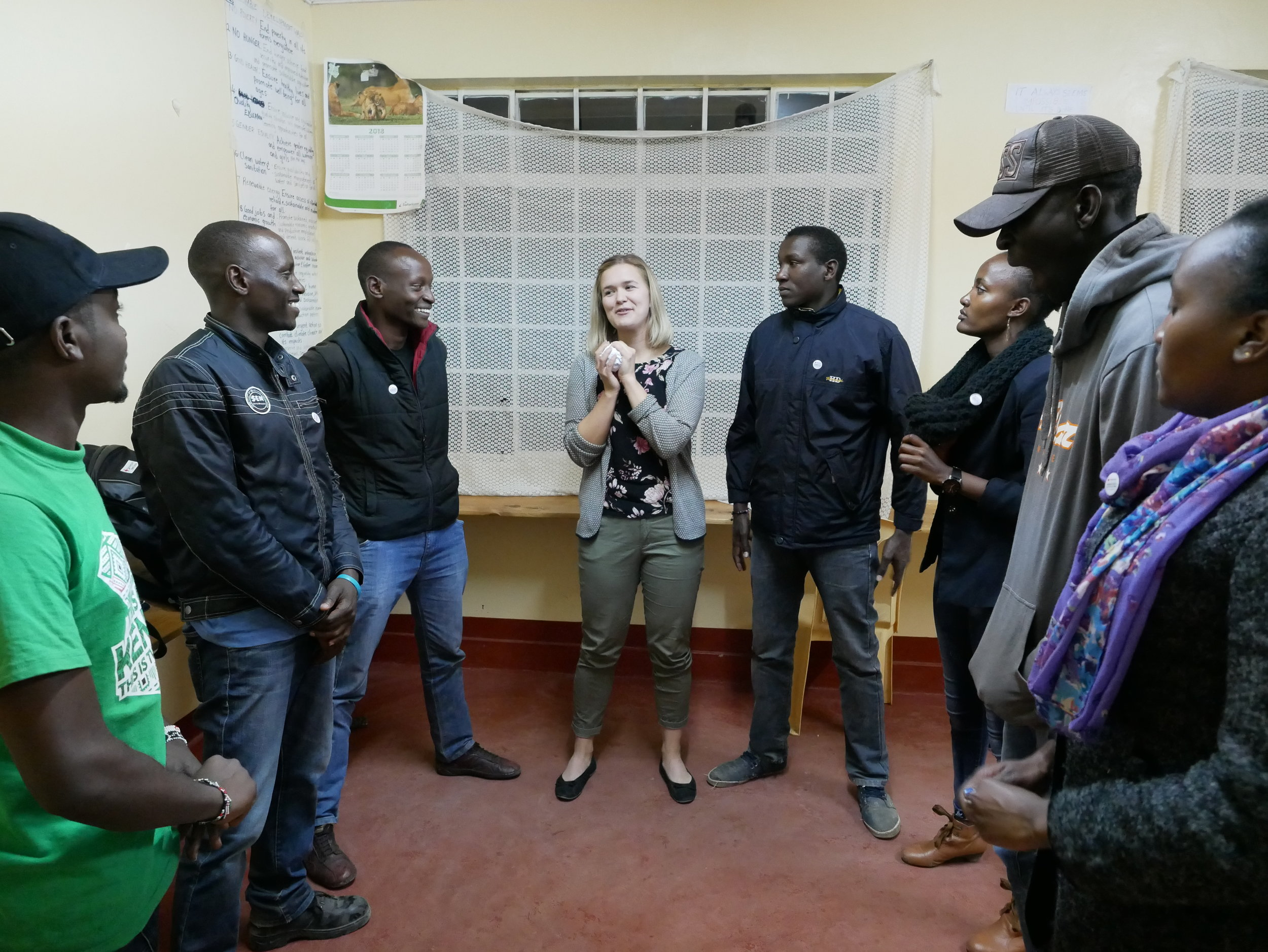 Our first meeting with the Branch Youth Committee (BYC) of Laikipia. The BYC and the local volunteers are our best teachers. Photo: Elfi Thrane Bemelmans