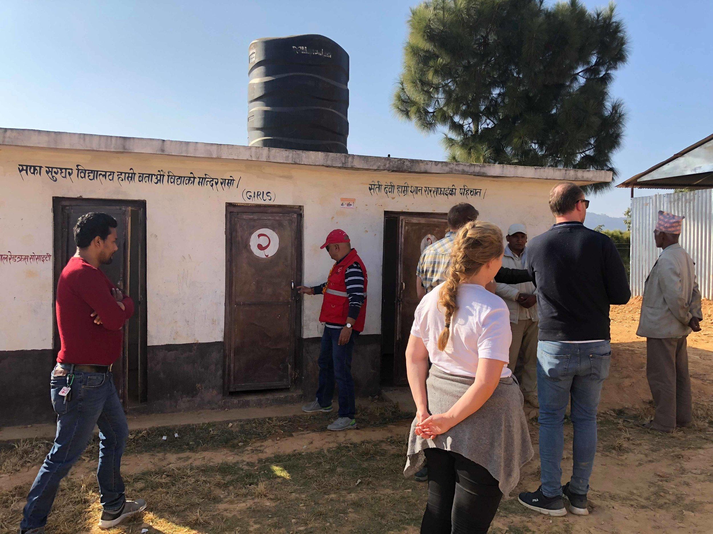 Child, gender and disability friendly toilet in primary school, Sindhupalchok Photo: Svanhild Gjeraker