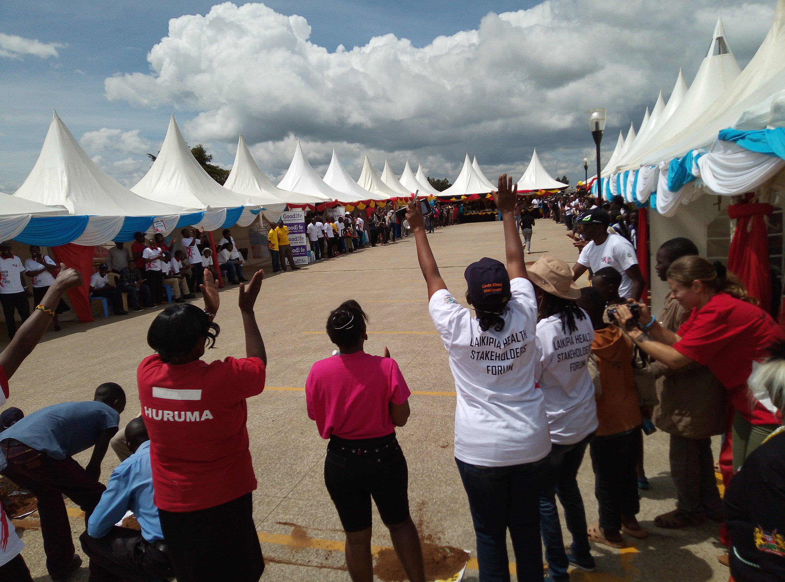 Games at the Nanyuki World AIDS Day event. Photo: Lydiah Bosibori Nyantika