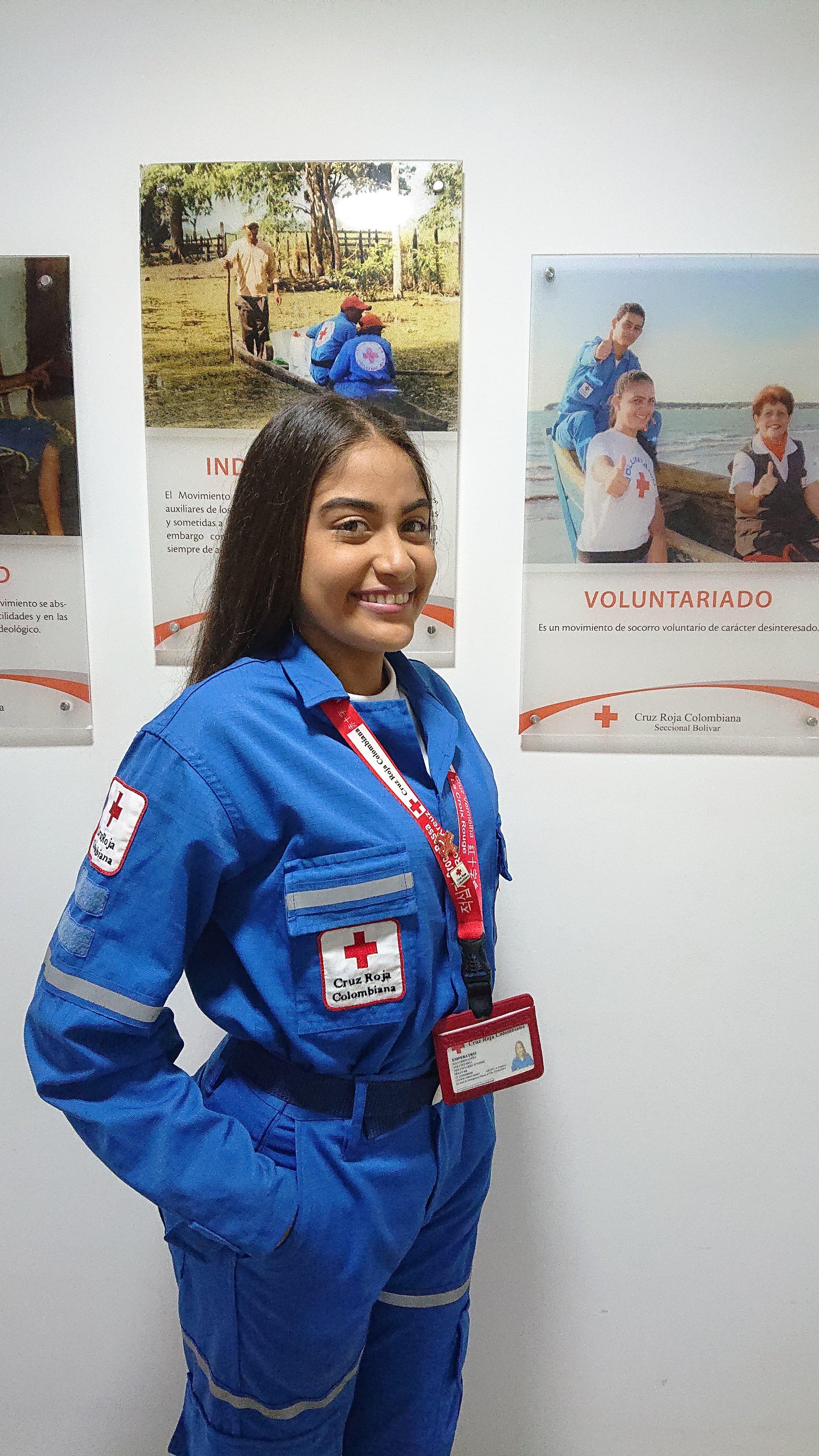 - Ensure the human welfare in the communityYouth Volunteer Emperatriz Navarro LopezVelar por el bienestar humano en la comunidadVoluntaria en Cruz Roja Juventud Emperatriz Navarro Lopez