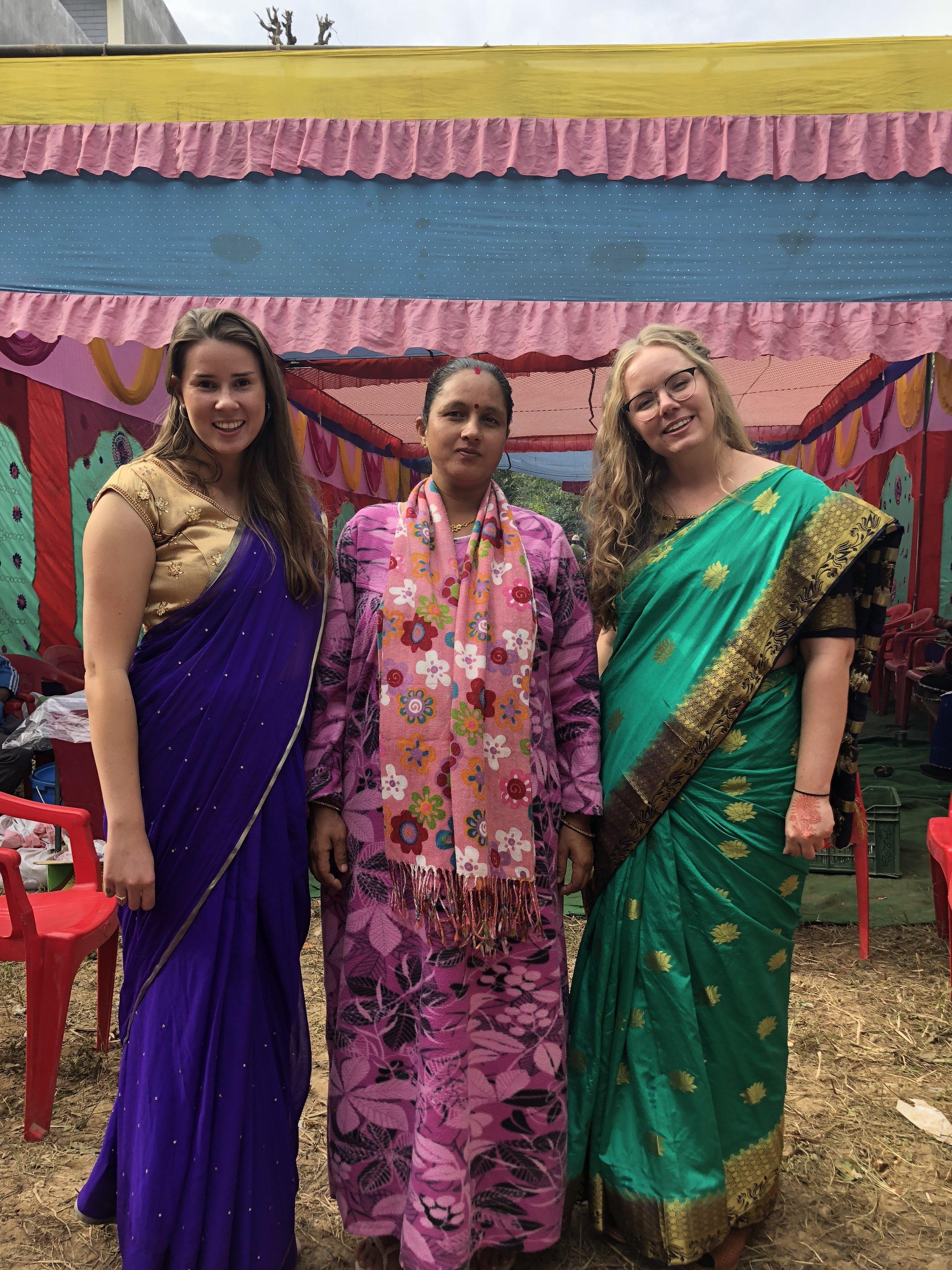 Svanhild, Binita and Guri at wedding Photo: Salina Chhetri