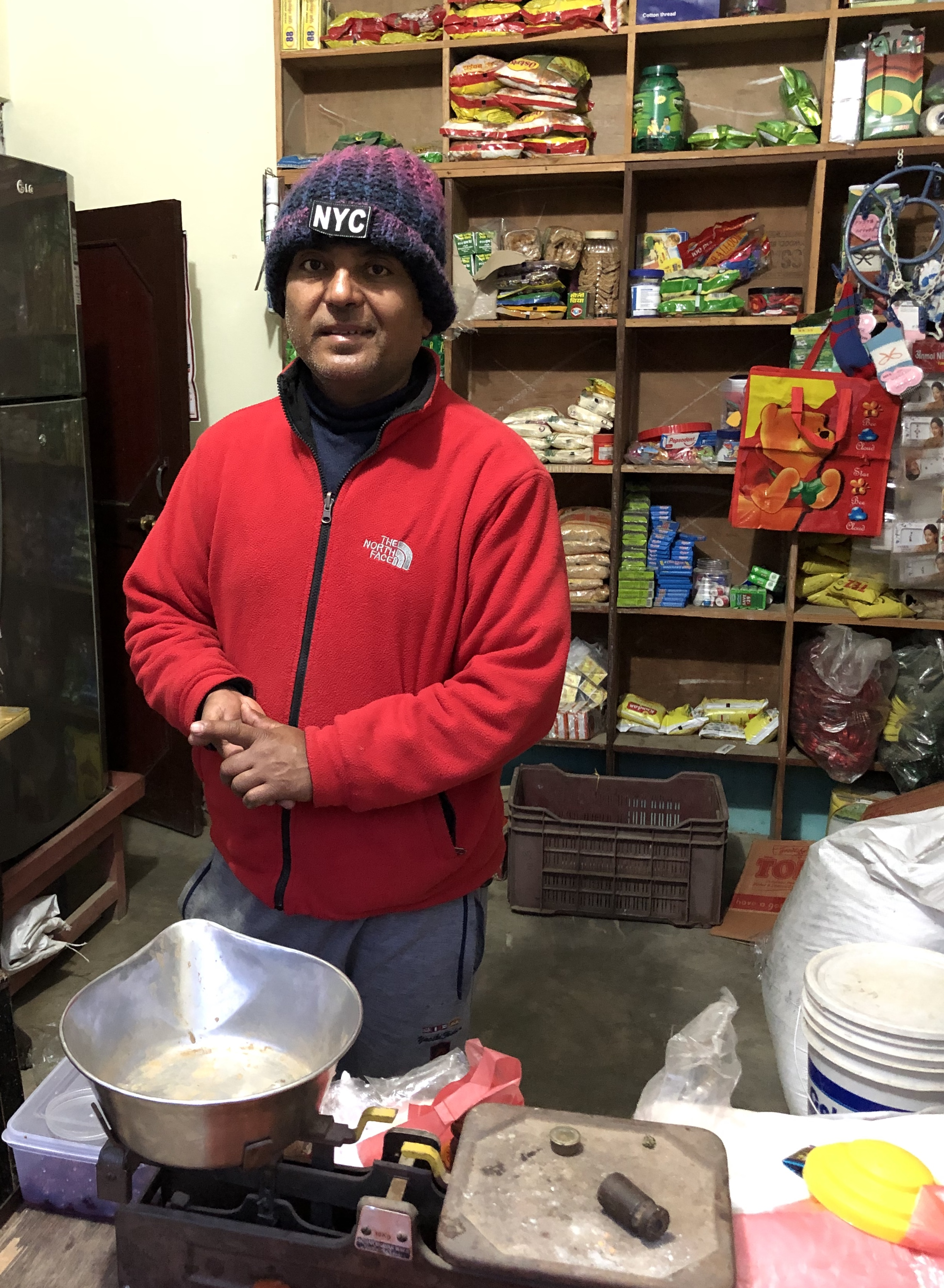 Dinesh in his shop Photo: Svanhild Gjeraker