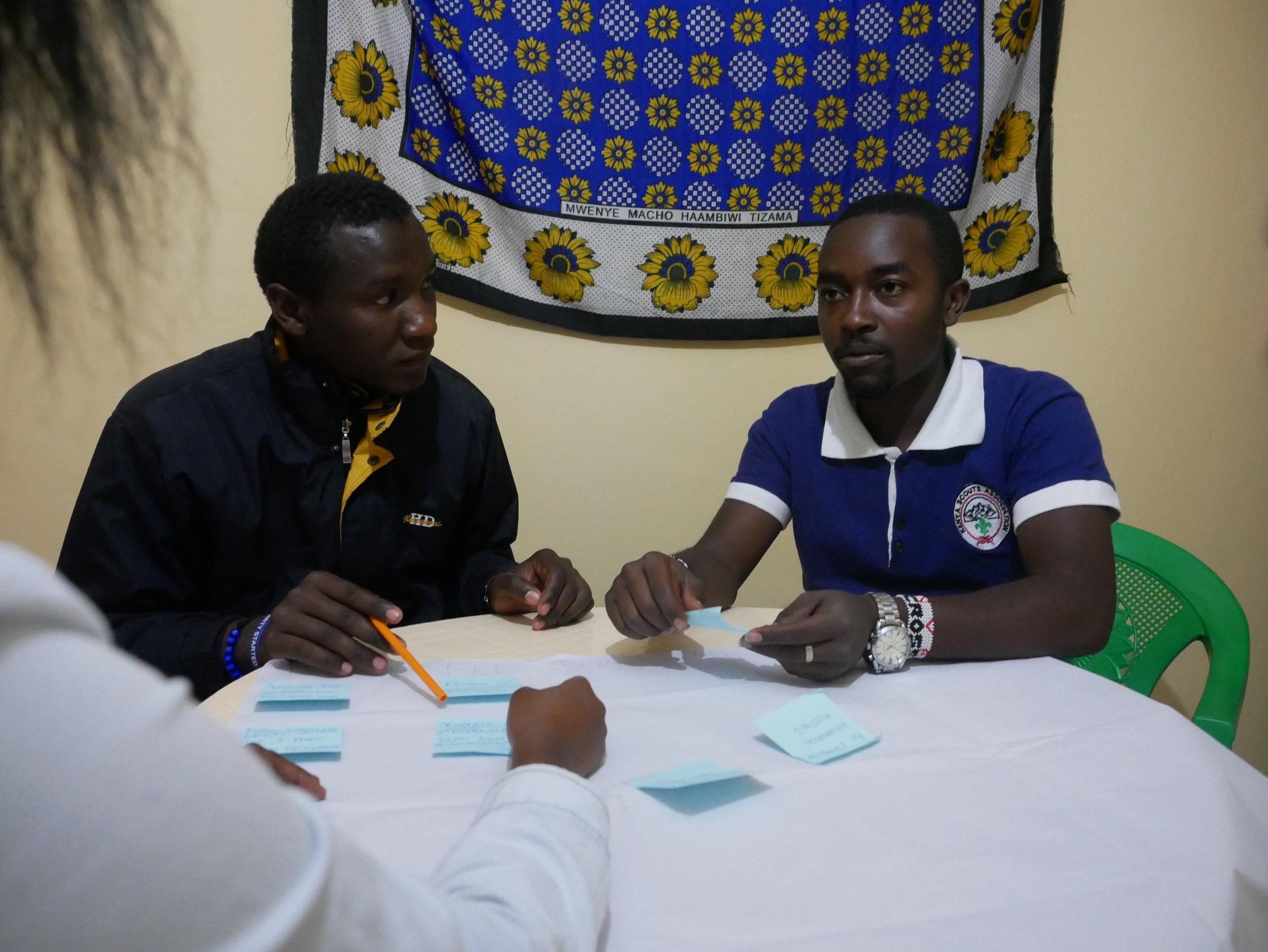 BYC members Moses Muriuki and Peter Mugweru. Photo: Elfi Thrane Bemelmans.