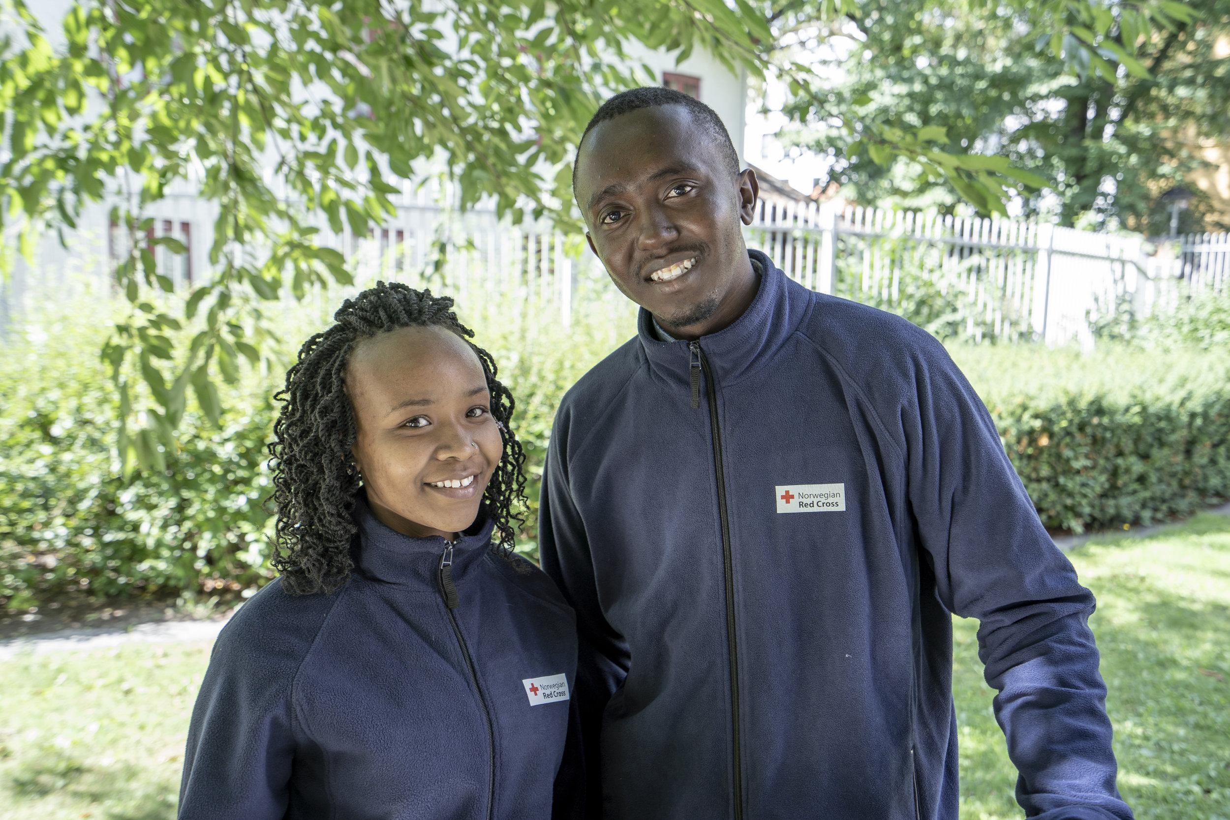 Teresa and Eugene Youth Delegates from Kenia in Akershus. PHOTO Olav Saltbones/Røde Kors