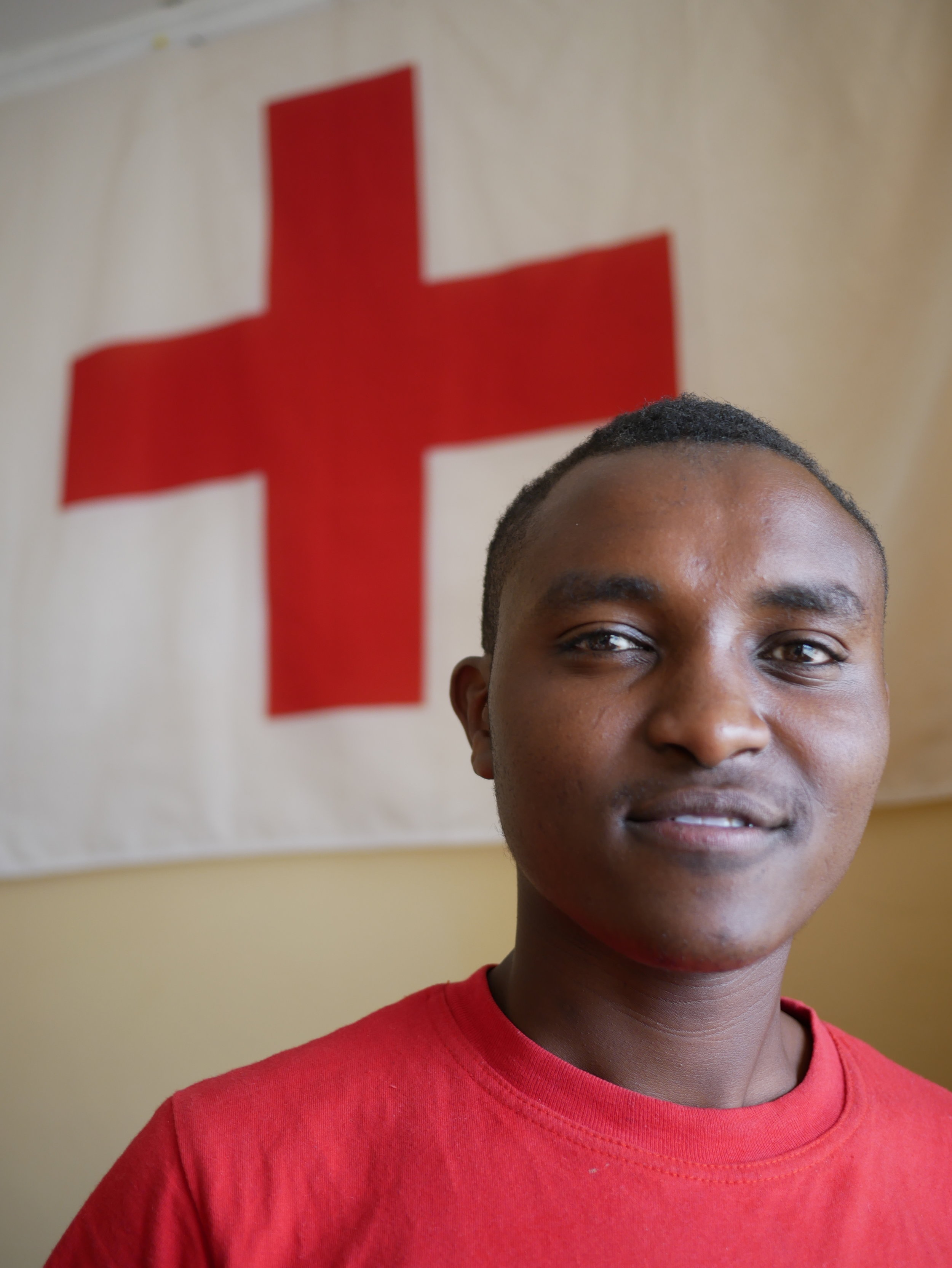 Vincent - Vincent is a Red Cross volunteer and member from Nanyuki. He has a lot of experience from being active in a range of organizations.- I love socializing, facilitating team-building sessions and organizing camps and hikes.